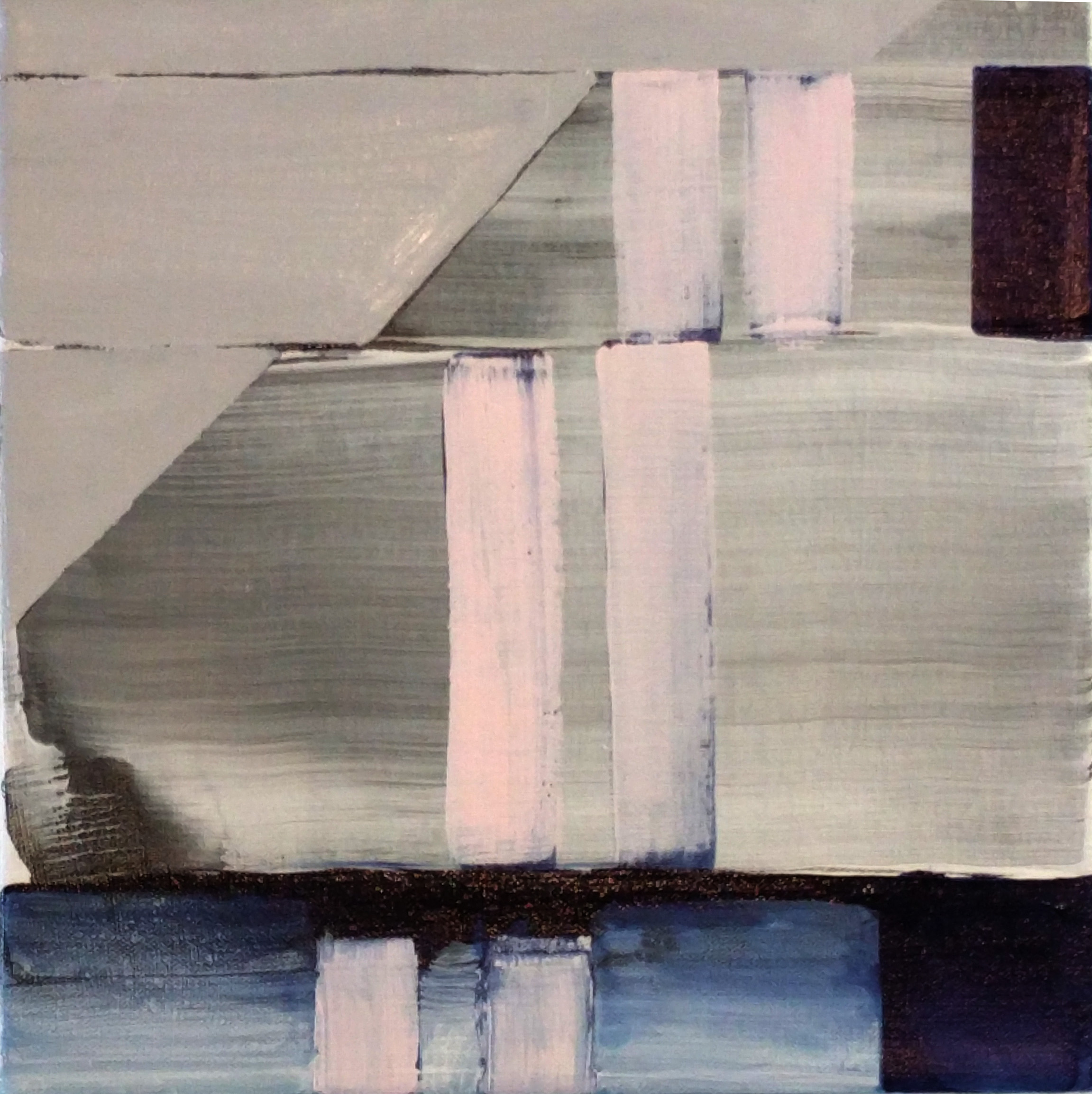 Chicago Blue Line , 12x12, acrylic on canvas