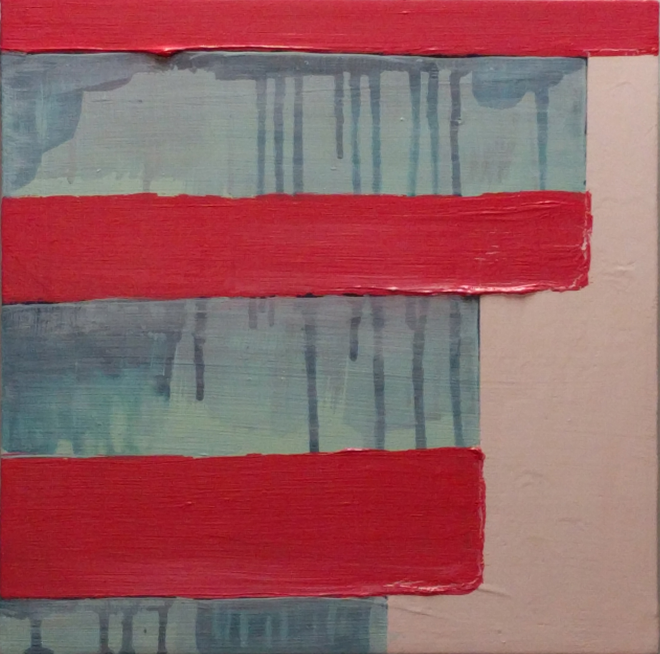 Addison Brown Line , 12x12, acrylic on panel