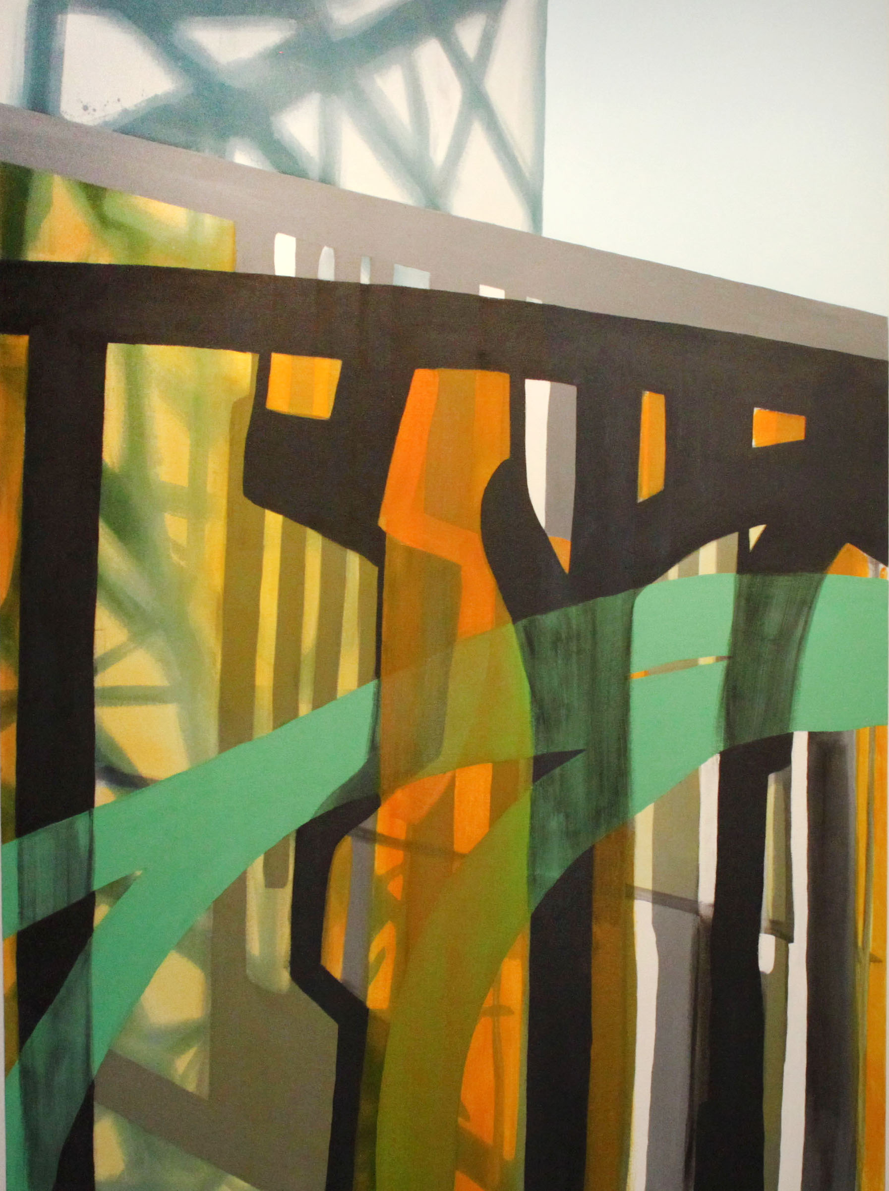 6:39–7:48 pm , 66x48, acrylic on canvas