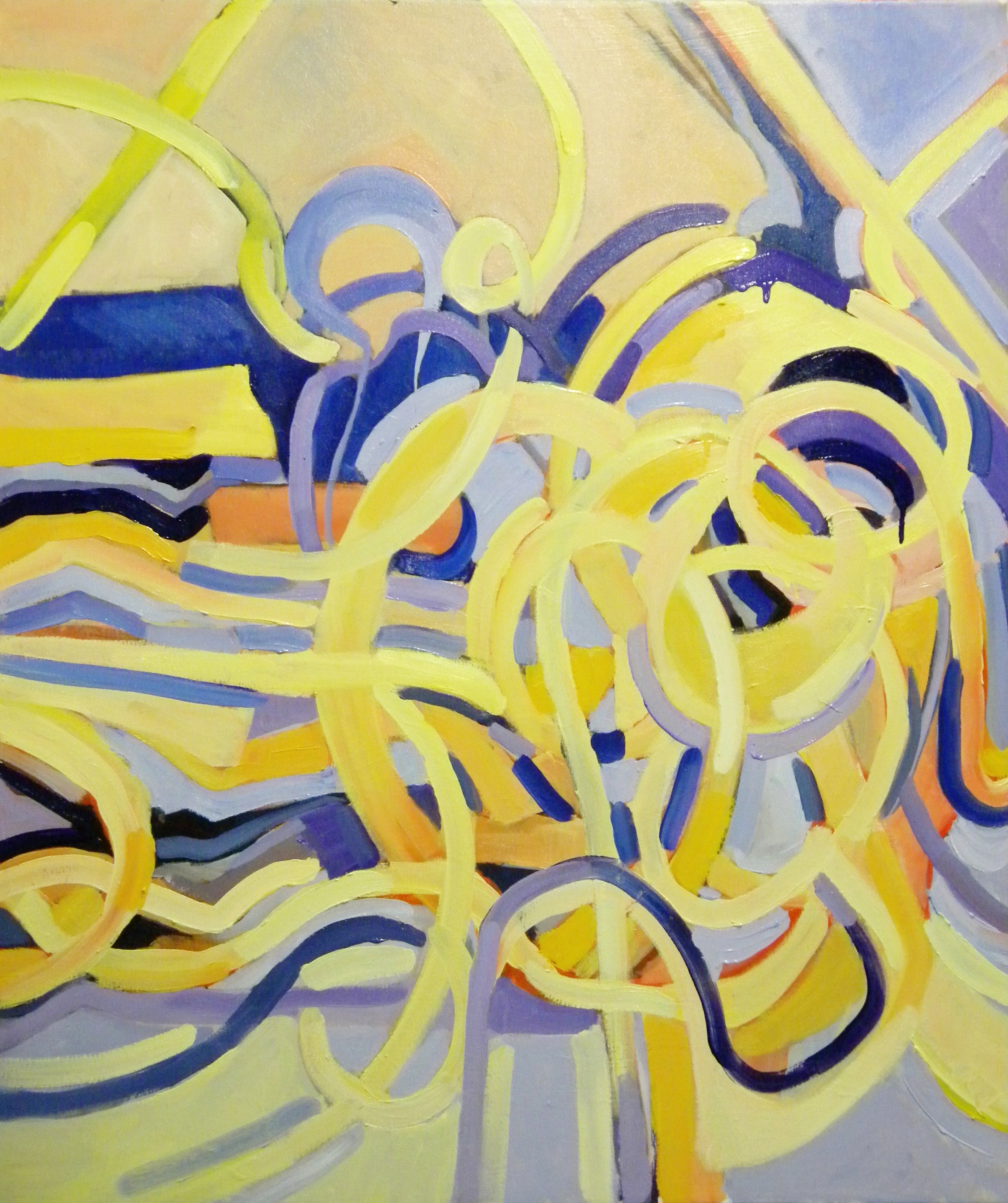 Energized Movements , 42x36, oil on canvas
