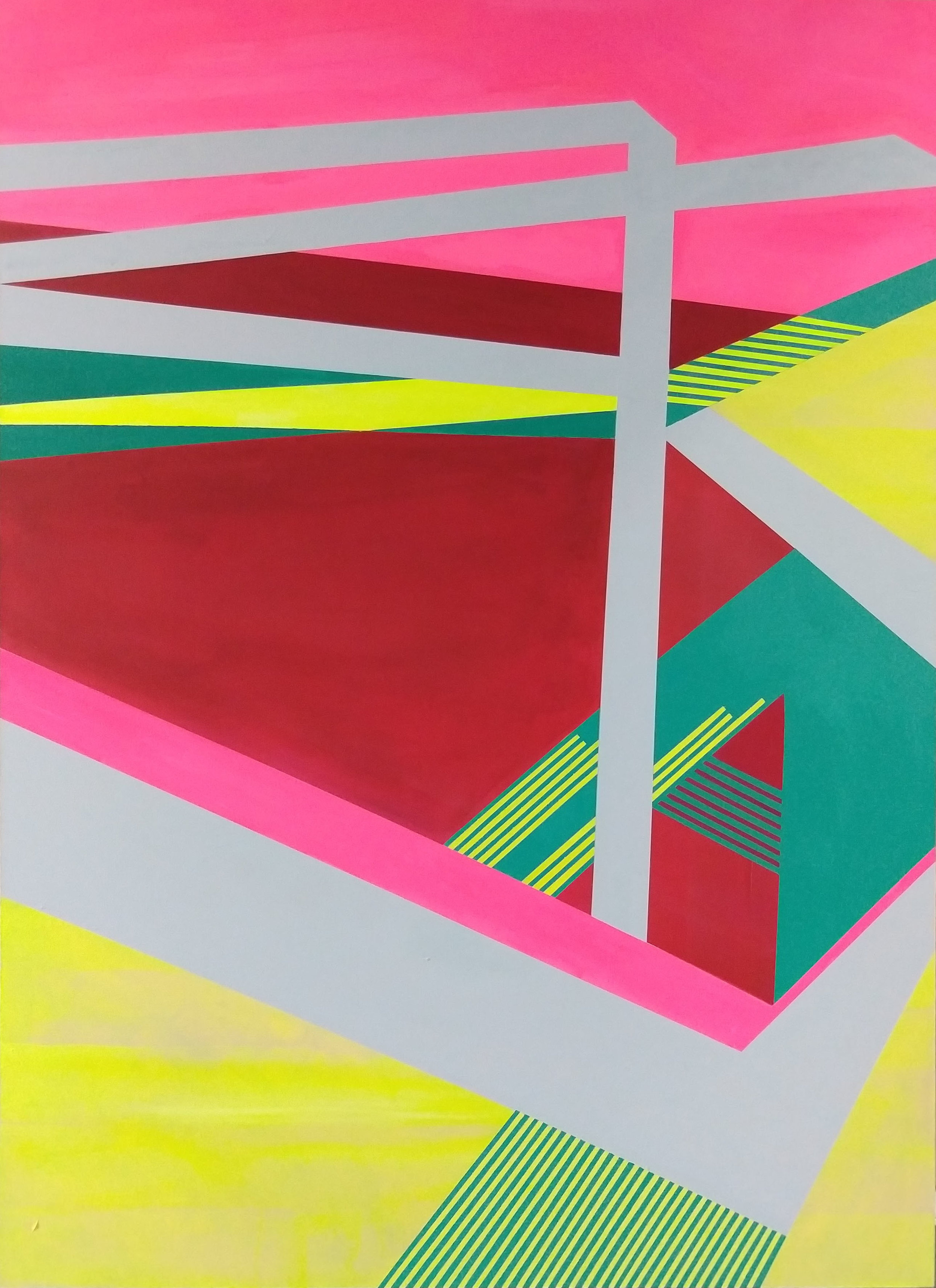Leland and Clark 1 , 66x48, acrylic and spray paint on canvas