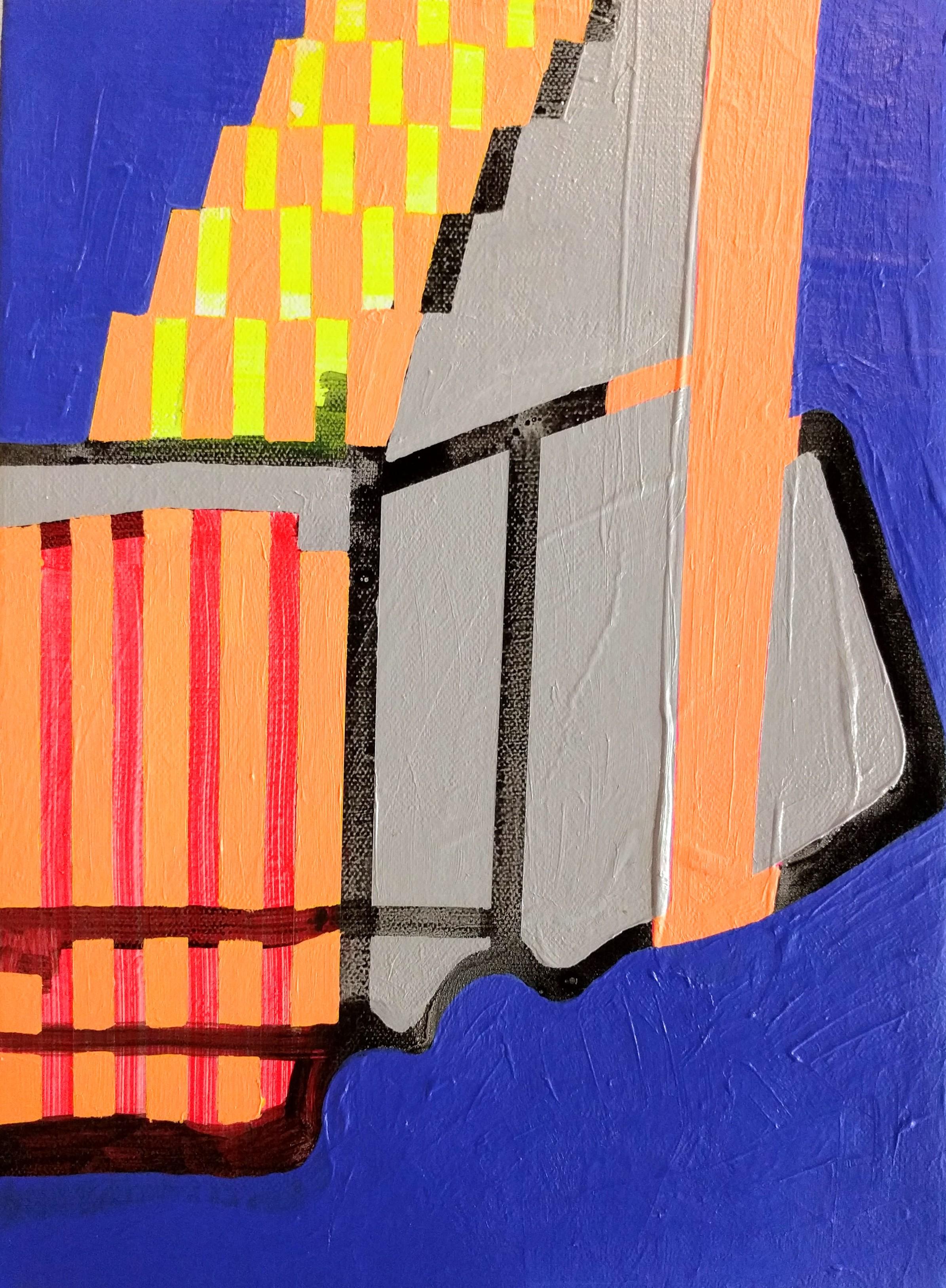 Under the Tracks , 11x7.75, acrylic on canvas