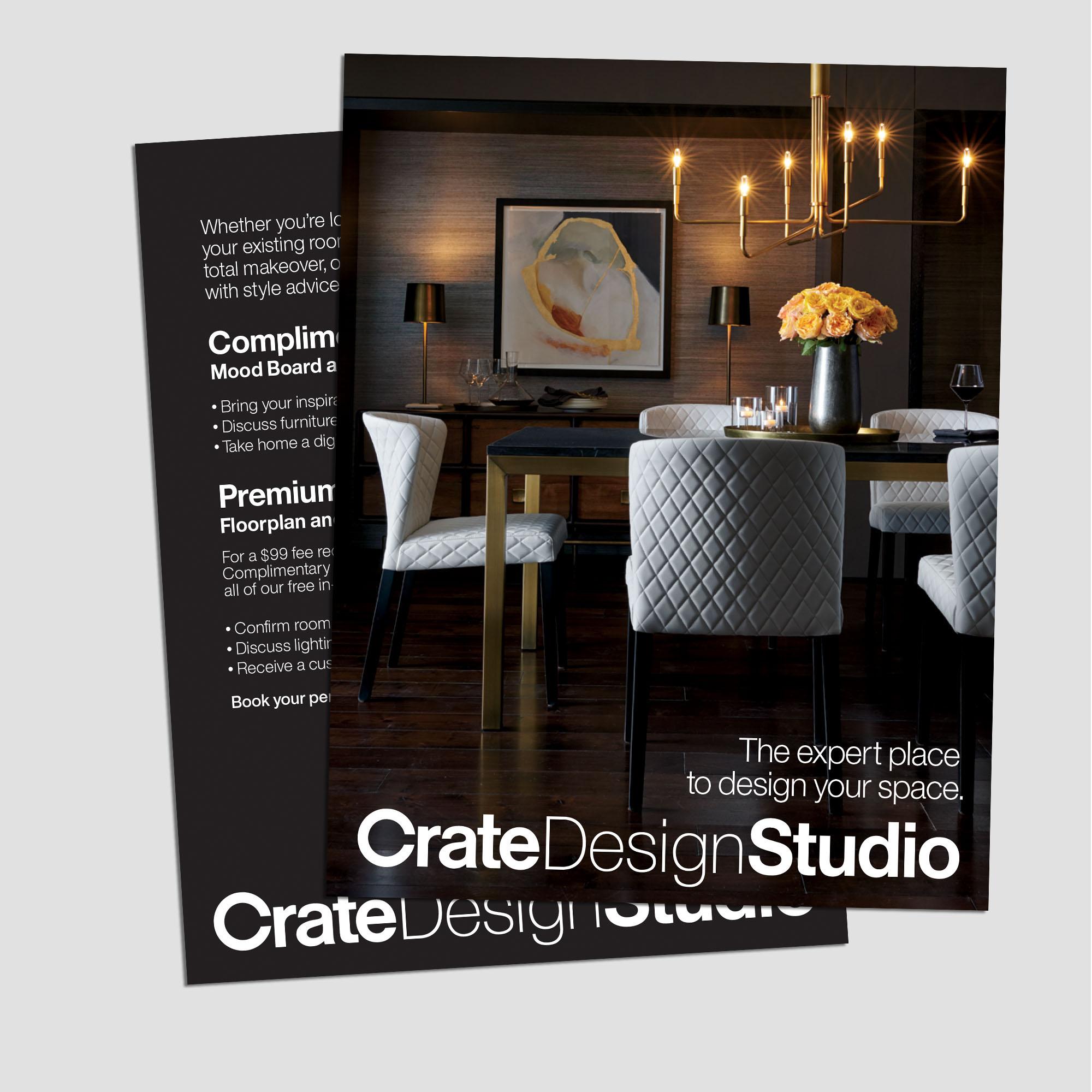 CRATE DESIGN STUDIO TAKEAWAY CARD // 2017