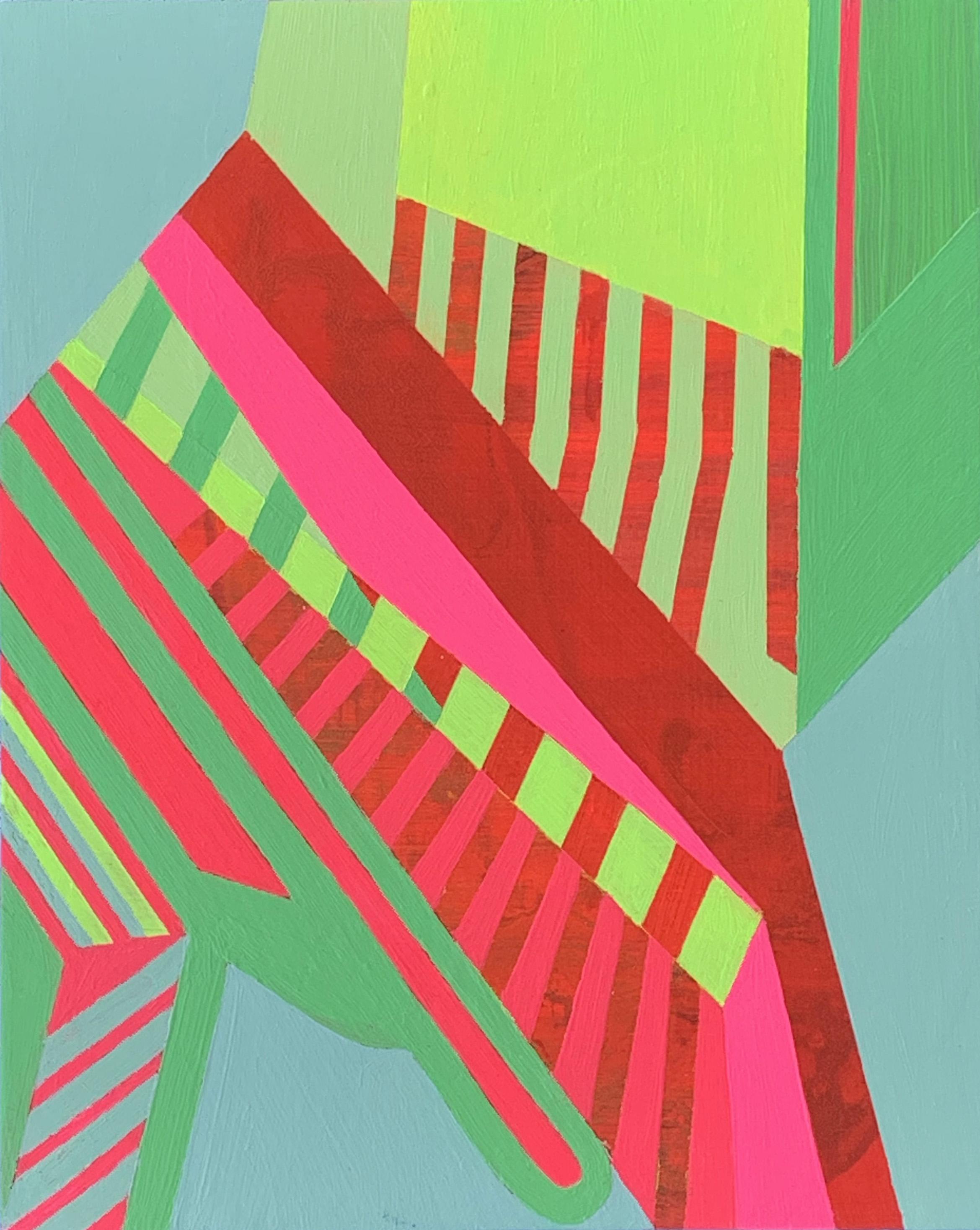Morning on the Patio 3 , 10x8, acrylic on panel