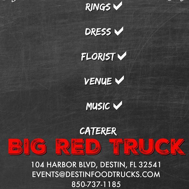 🚩Need a caterer? We still have some dates open June, July, and August! Booking through 2020!🚩 #VIPDESTINBestCaterer2019 #DestinCatering #BRTCATERING