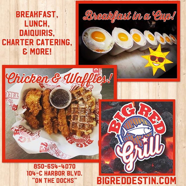 🚩Y'all don't forget to come see us at @bigredgrilldestin ! Breakfast, Lunch, Daiquiris, and More! 🌮
