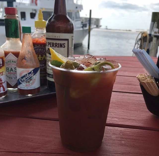 Case of the Mondays? We got you. #bigredgrill #bloodymary  #fishtacos