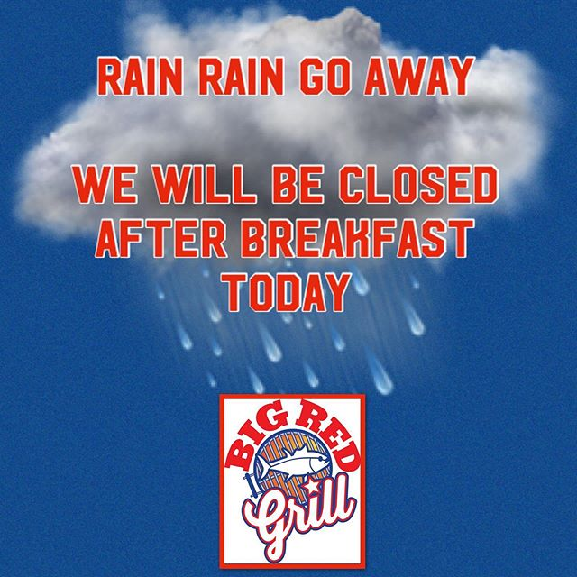 🚩Closed today, Tuesday 6/18. Silly rain! See you soon!