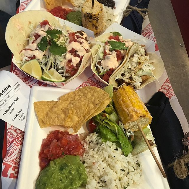 Our taco service is a very popular and FUN option for weddings and rehearsal dinners! Check out our catering menu at https://www.bigreddestin.com/catering ( link in bio)
