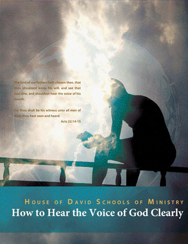 "How to Hear the Voice of God Clearly - He that hath an ear, let him hear what the Spirit saith unto the churches. Revelations 3:22God is continually speaking; pouring out wisdom and direction to His people. However, many Christians are not in position to hear His voice. ""Behold, the LORD's hand is not shortened, that it cannot save; neither his ear heavy, that it cannot hear: But your iniquities have separated between you and your God, and your sins have hid his face from you, that he will not hear."" (Isaiah 59:1-2) So many of us struggle with discerning the voice of God; we wonder whether the voice that we hear is from God, the enemy, or whether it is just our own thoughts. Beloved, please understand that God is not the author of confusion. When the child of God calls He will answer and His answer will be clear to those who have ears to hear. In this course you will learn how to develop an ear to hear. As well as how to identify and remove those things that hinders you from hearing to voice of God clearly. You will be given teachings that will build your faith in this area; exhorting you in the integrity of the Word of God. As you apply these teachings we are confident that your relationship with the Lord will never be the same. At the completion of this course your heart's cry will be ""…Speak; for thy servant heareth."" (1 Samuel 3:10)"