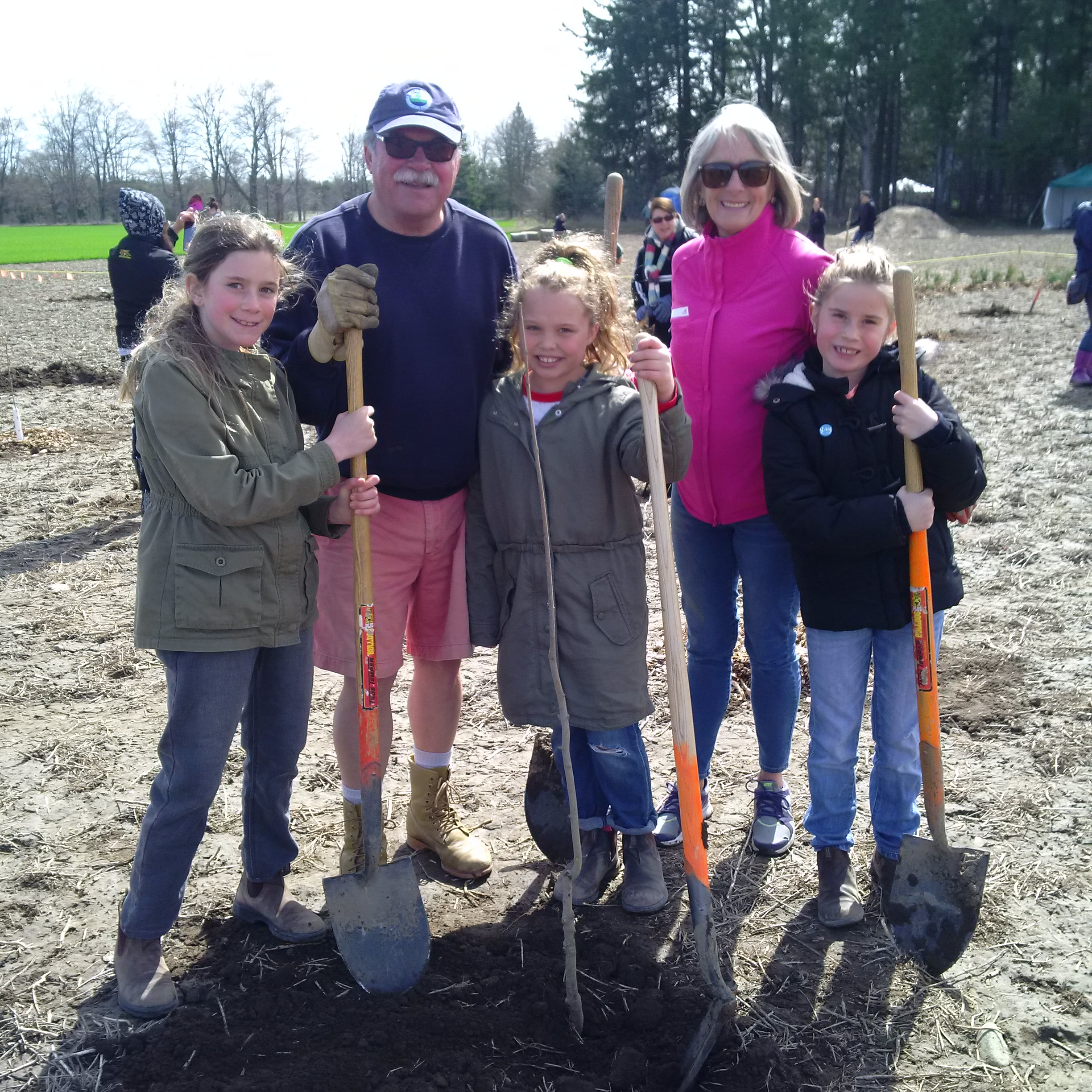 Copy of Sadie, Ava and Frankie - Tree Planting with Nanny and Pops, Rotary Forest