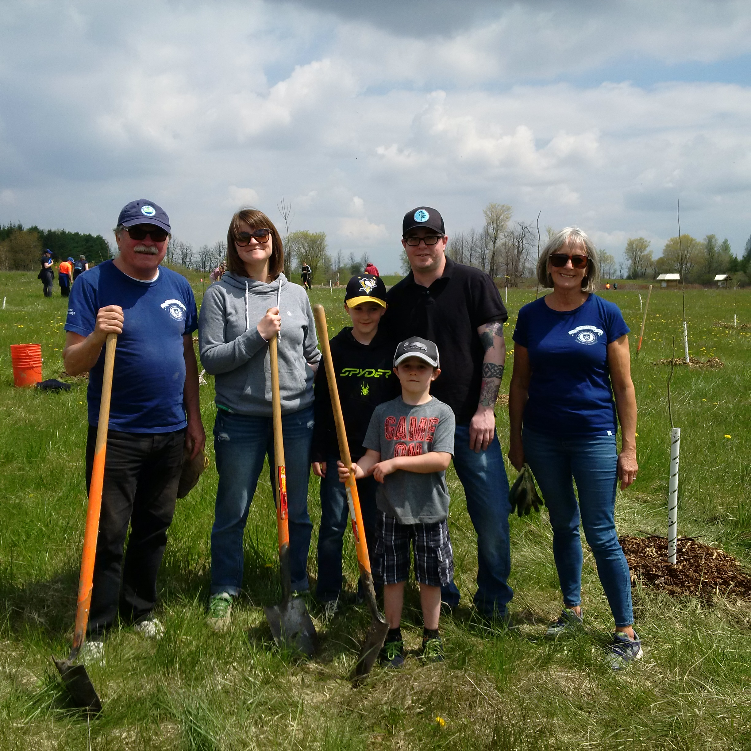 Tree Planting with Executive Chef Shea Robinson and his family