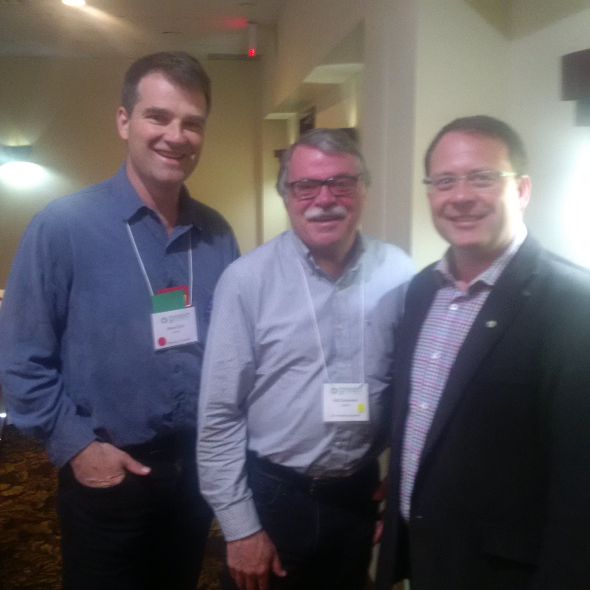 With Steve Dyck and Mike Schreiner, GPO Leader