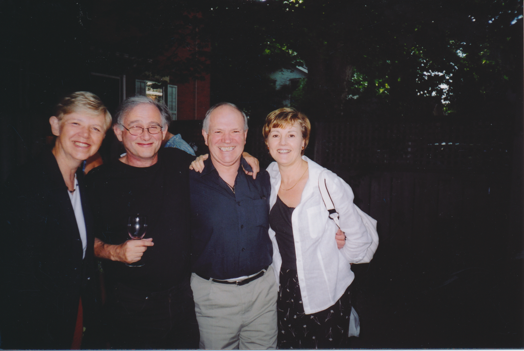 Good friends.  L to R: Bertha, Jean-Pierre, Jacques and Danielle.