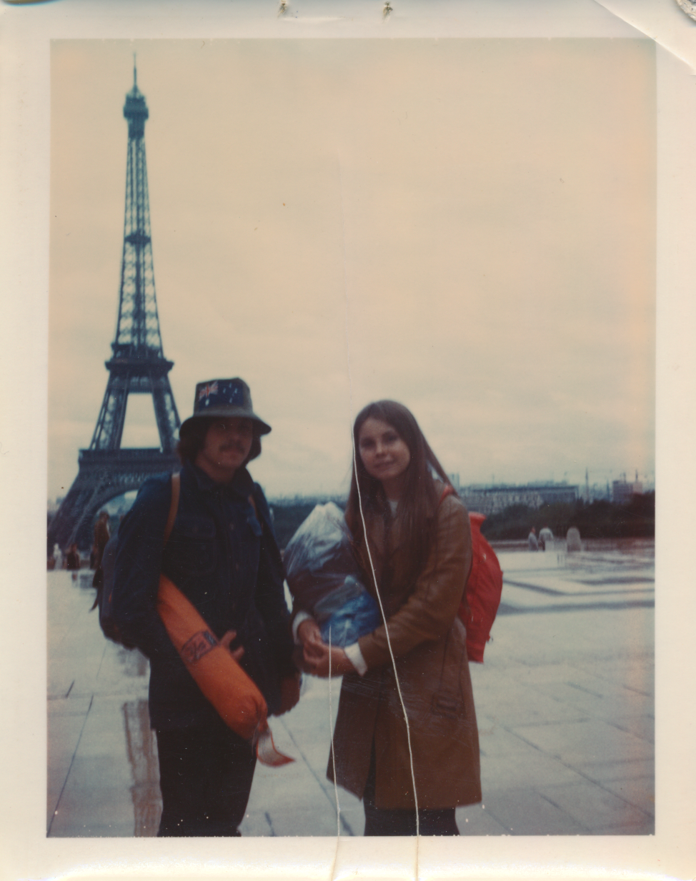 With cousin Cindy in Paris, 1972