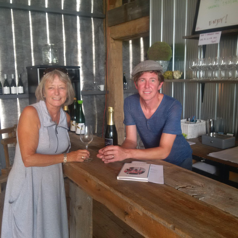 Owner Jens Korberg with Sue Desautels
