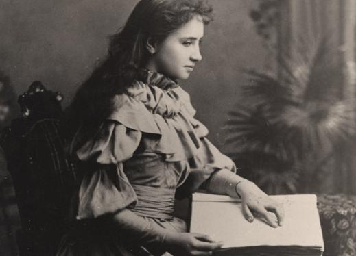 Helen Keller, American author, political activist, and lecturer.