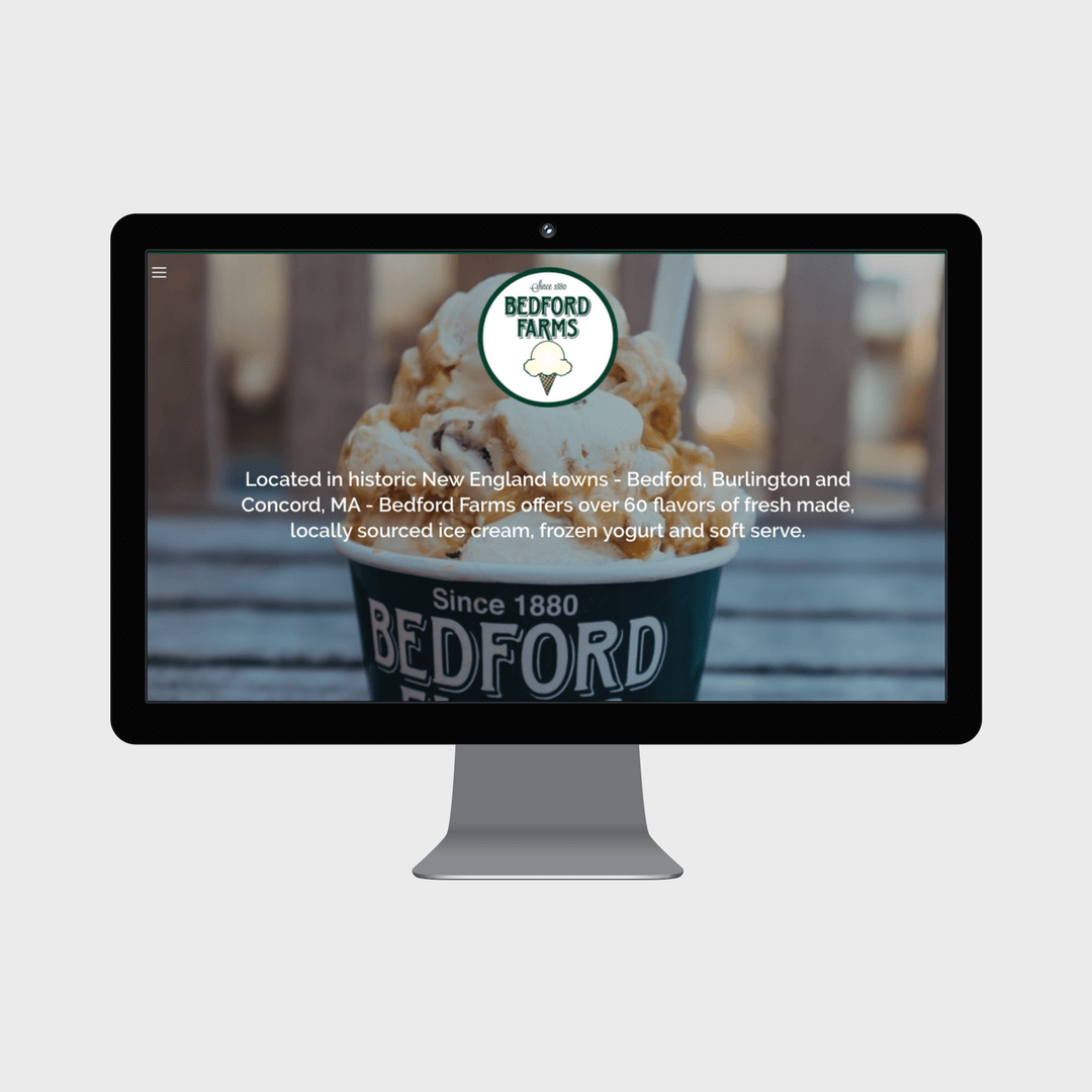 Bedford Farms Ice Cream Small Business Squarespace Website Grey Barn Media.png