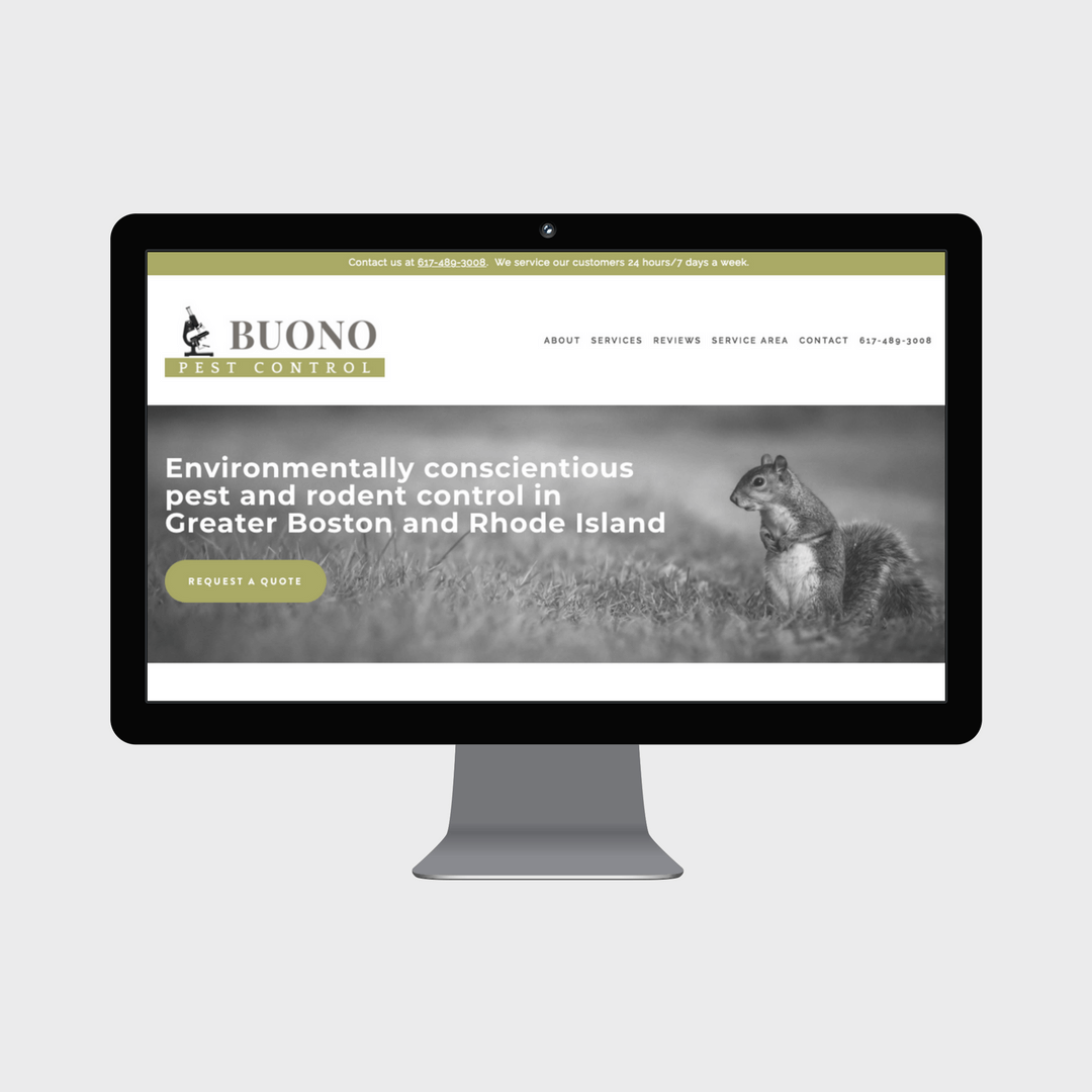 Buono Pest Control Squarespace Website for Small Business in Greater Boston Grey Barn Media.png
