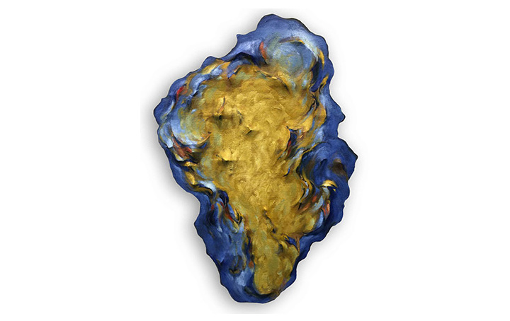 Untitled (Ochre and Cobalt)