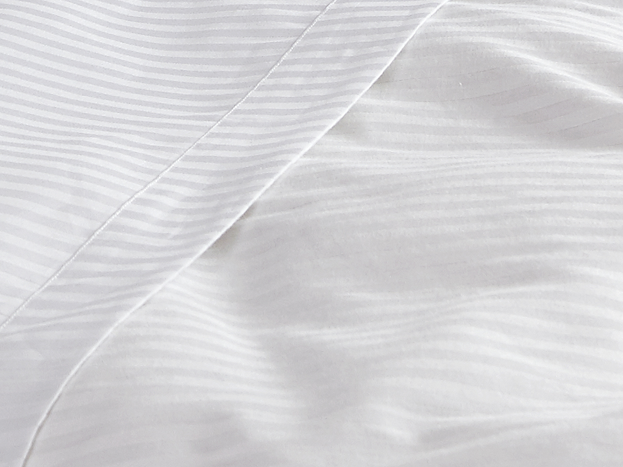 Collection Details - 100% Egyptian CottonFabric FinishSateen or Percale1cm StripesWhite, IvoryThread Count200 - 800