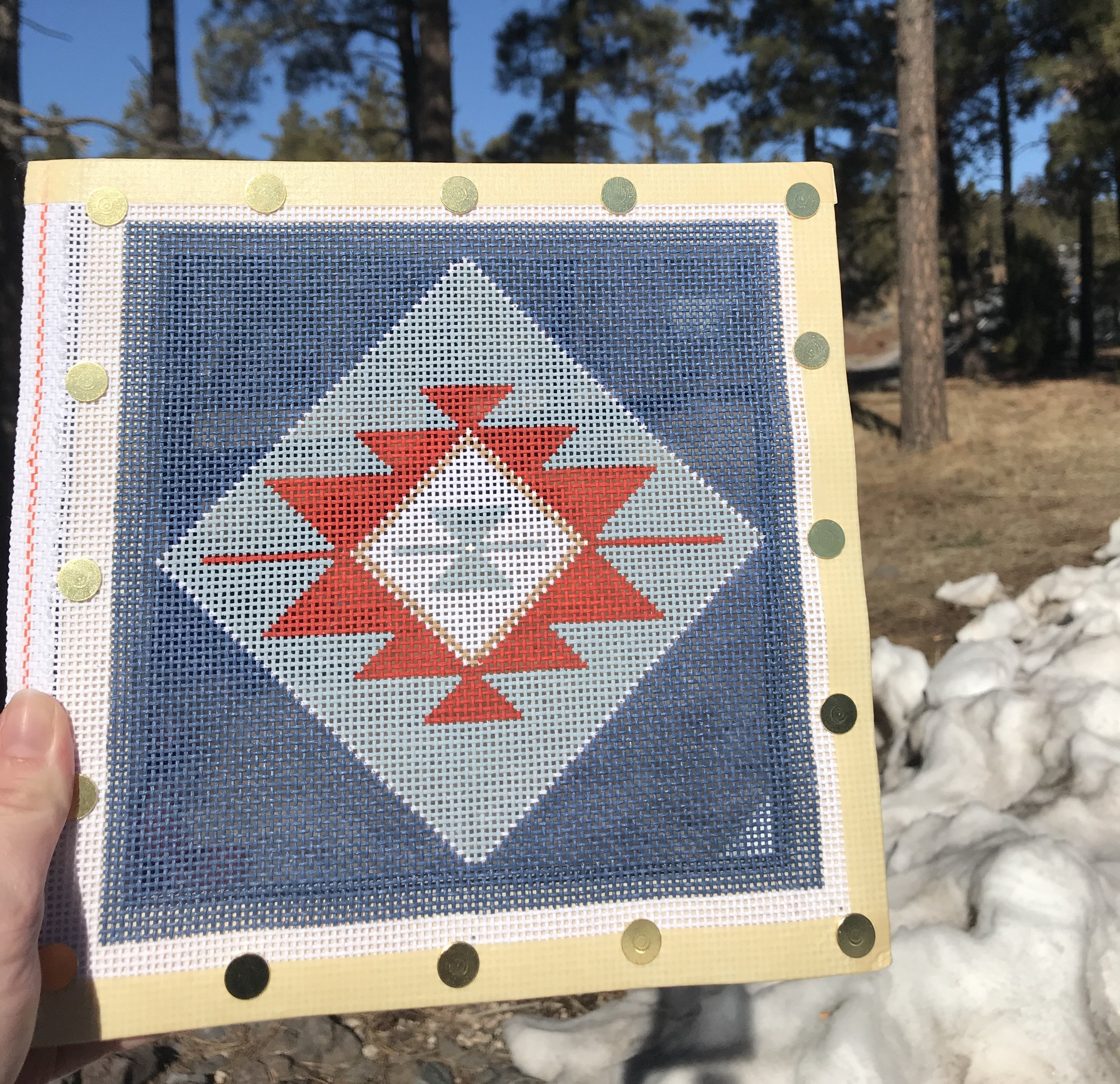 "Lil Soulfully Southwestern - (PP45) 7""W x 7""H on 13 mesh"