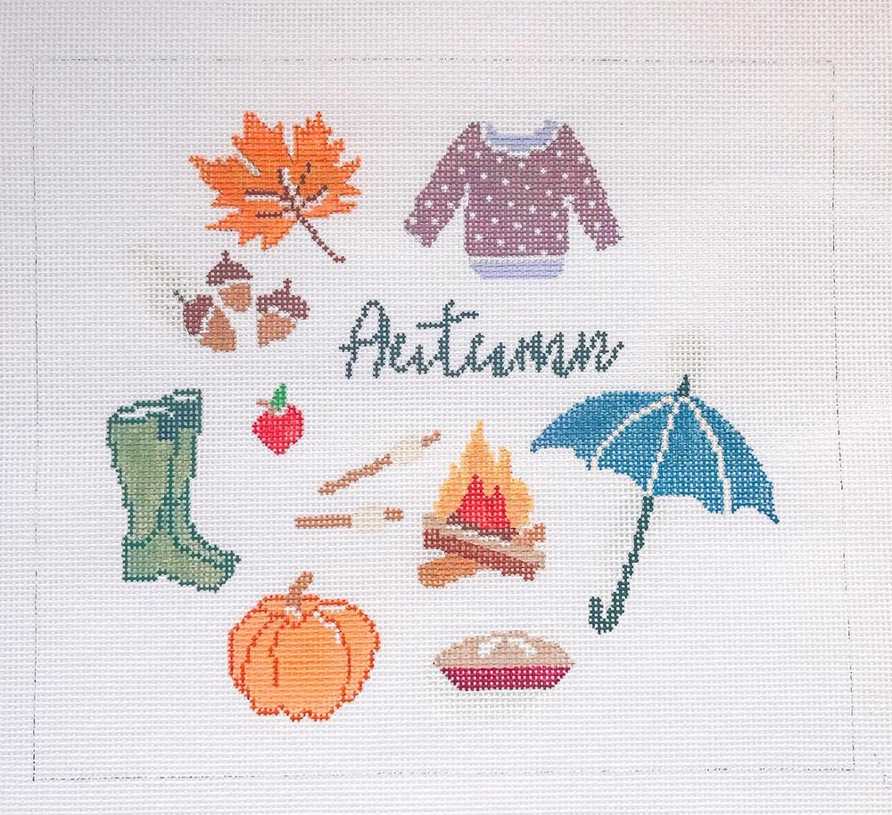 "Autumn - (PP61) 8.25""W x 7.25""H on 18 mesh"