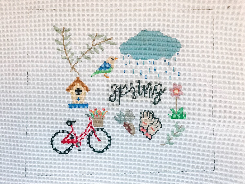 "Spring - (PP63) 8.25""W x 7.25""H on 18 mesh"