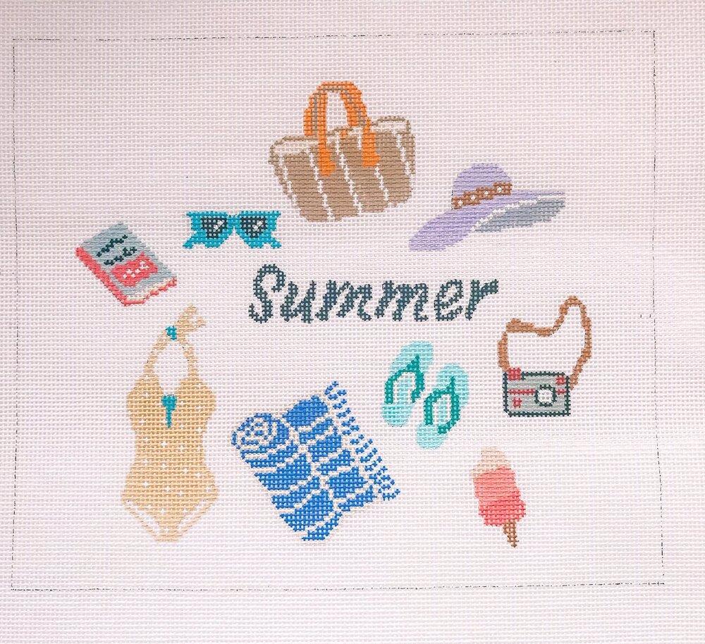 "Summer - 8.25""W x 7.25""H on 18 mesh"