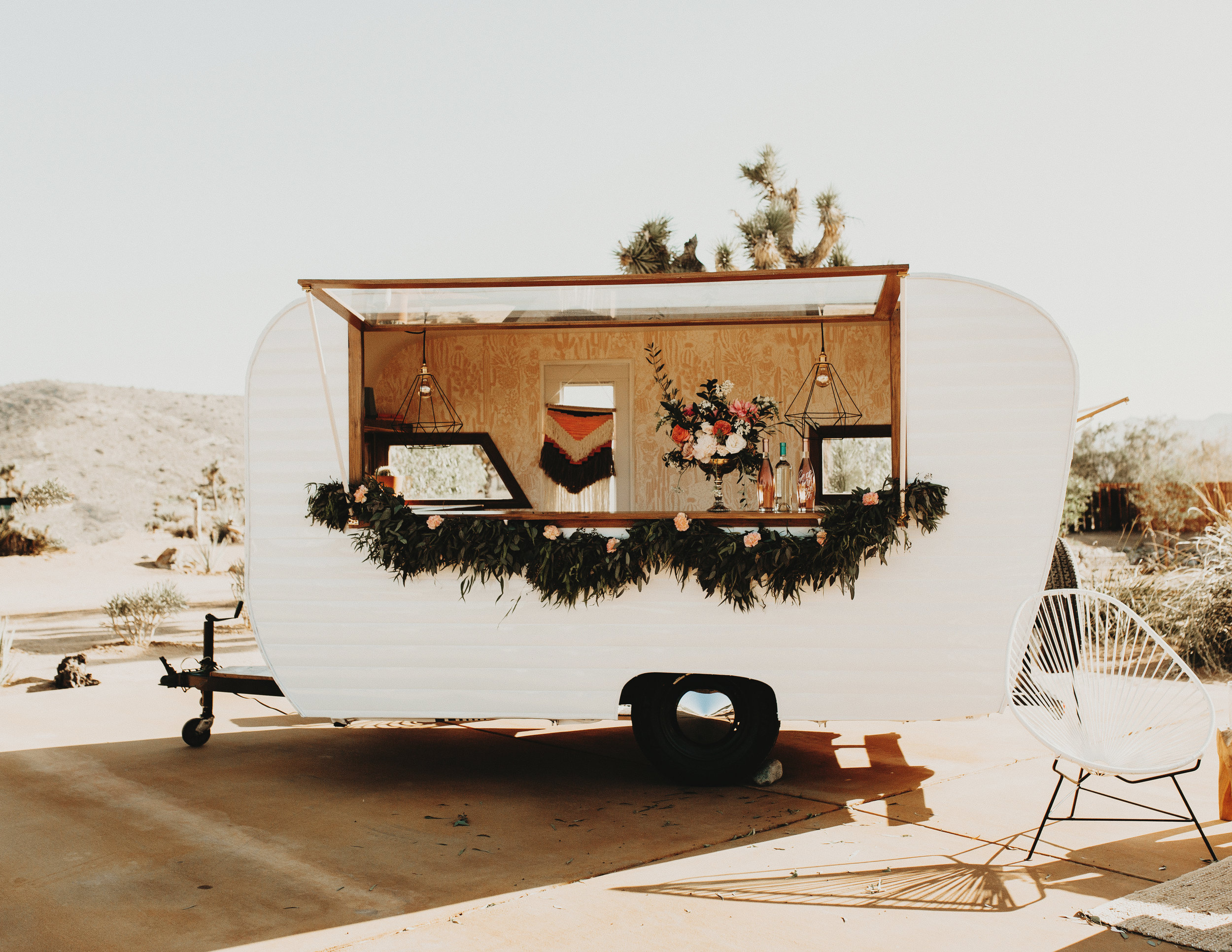 Go full party mode and rent out a cute open bar and have it parked at your Airbnb.