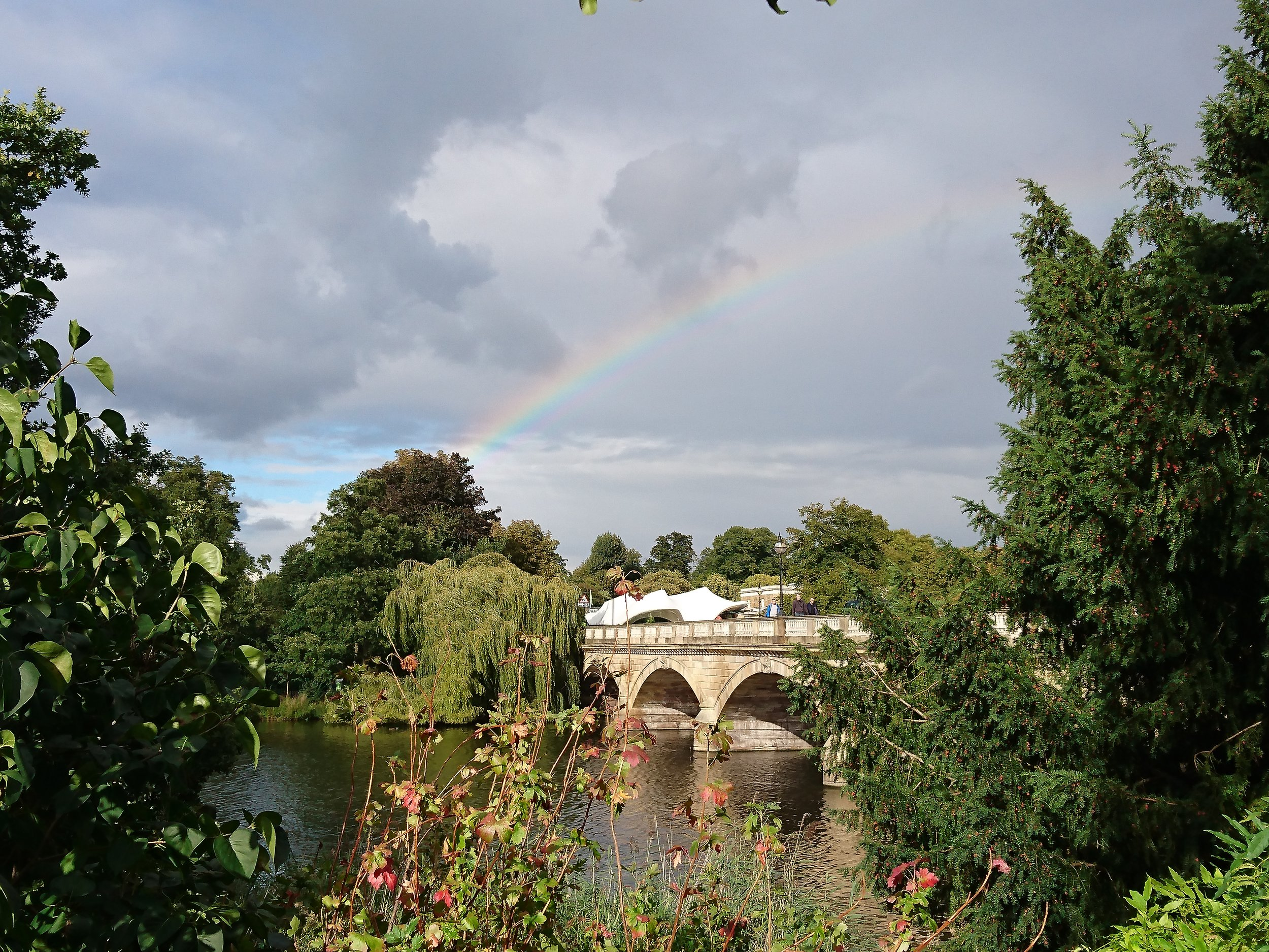 Rainbow over serpentine