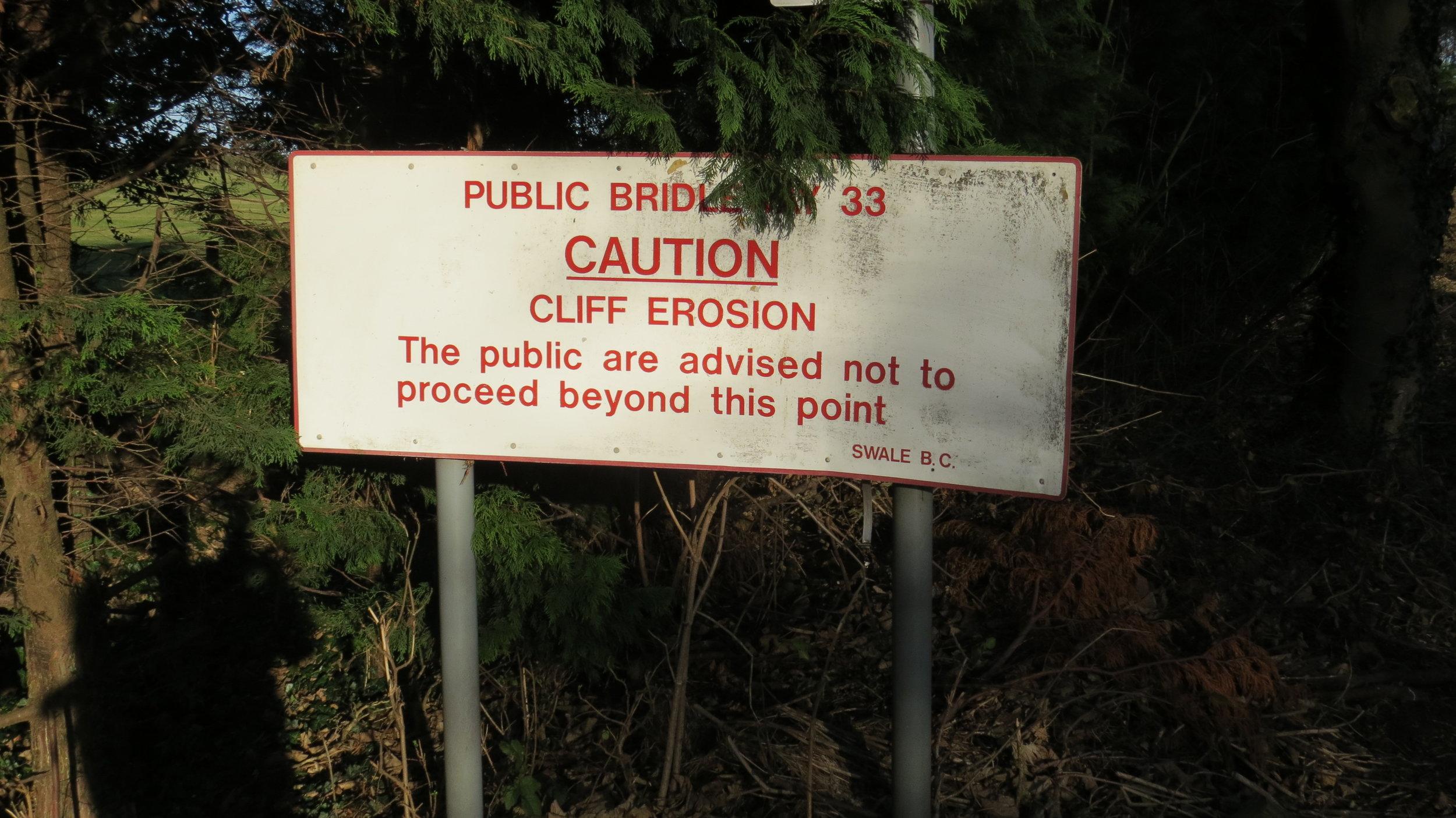 Blocked by erosion