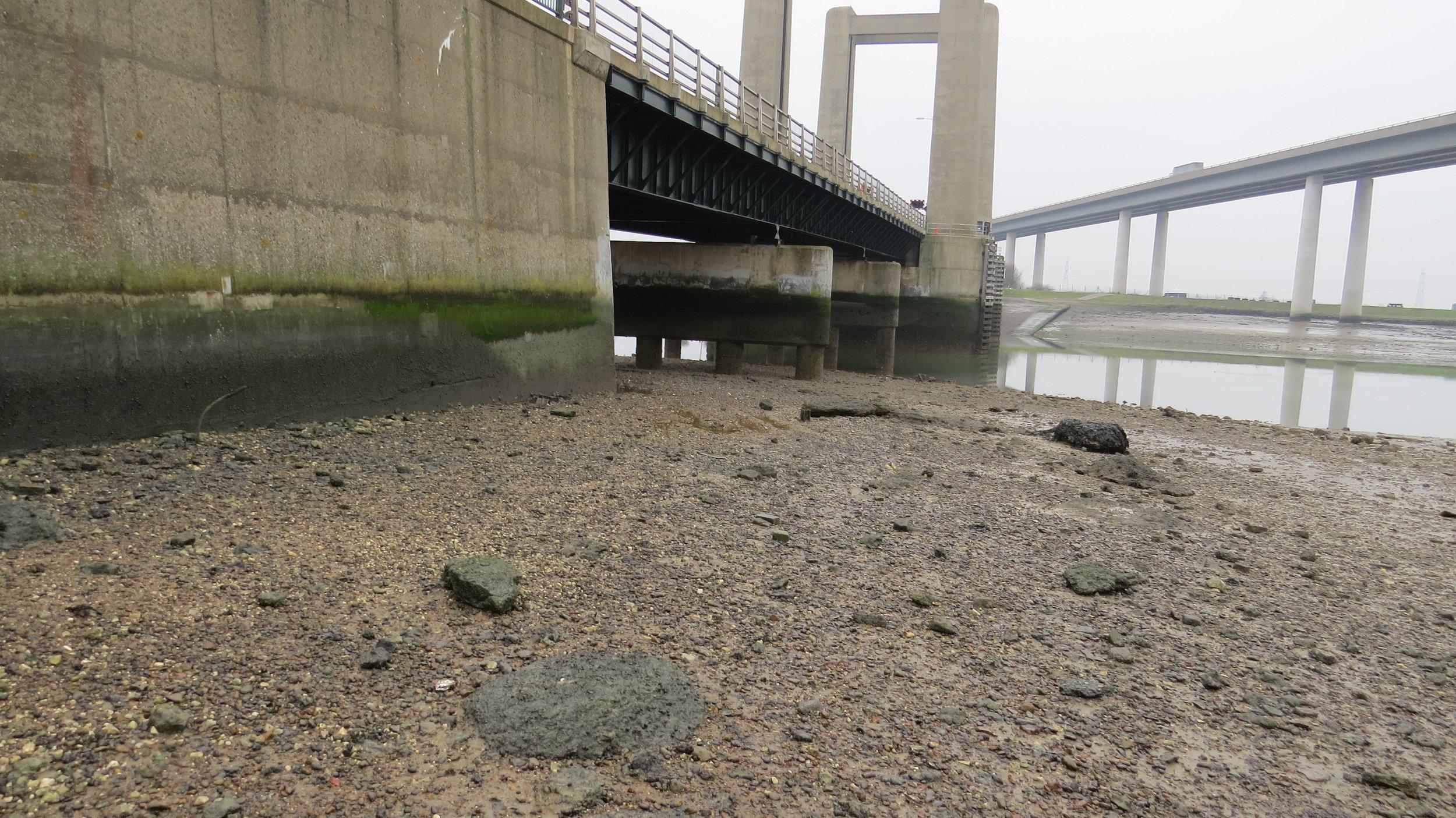 Sneaky route under bridge