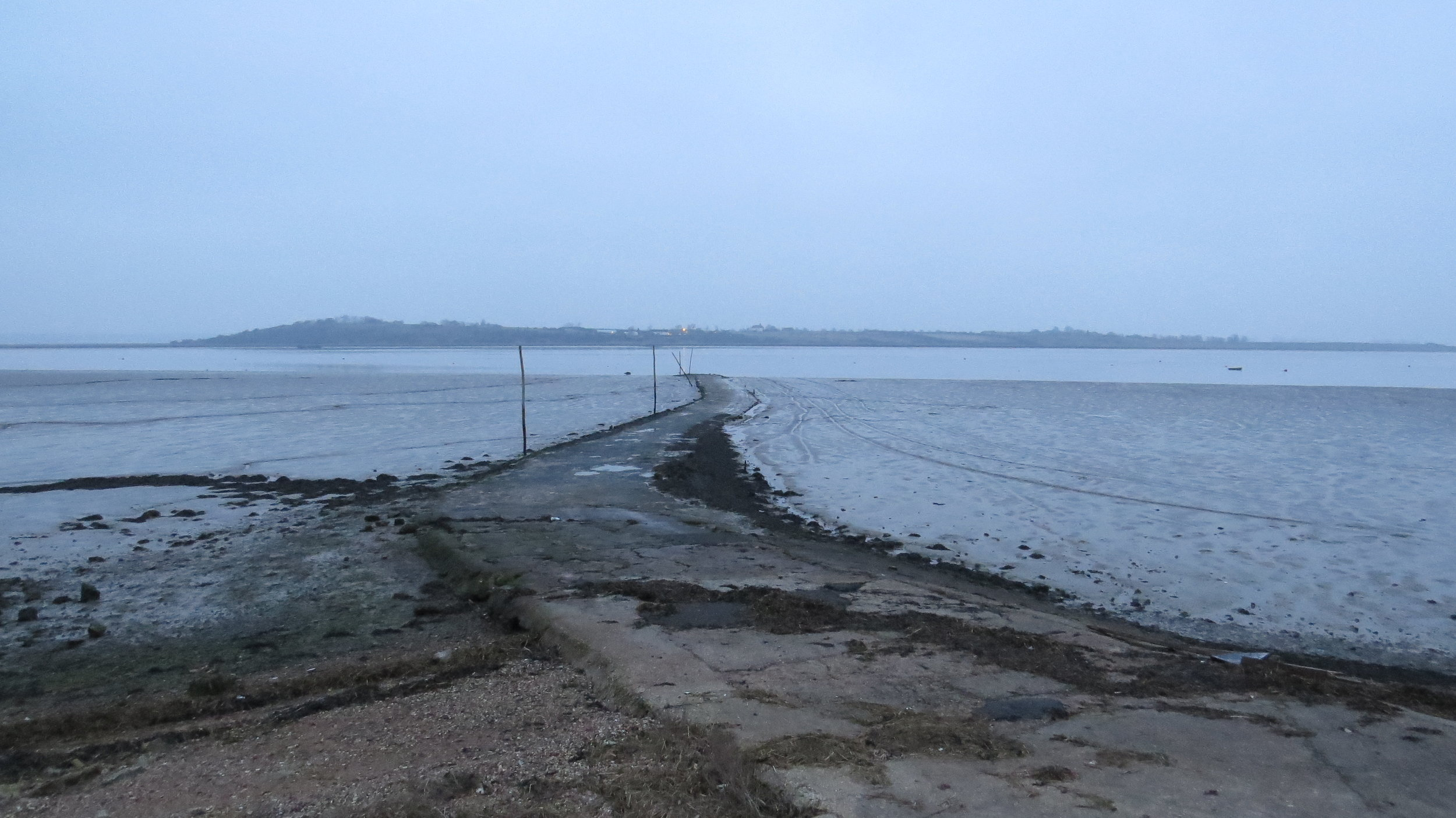 Looking back across to Harty