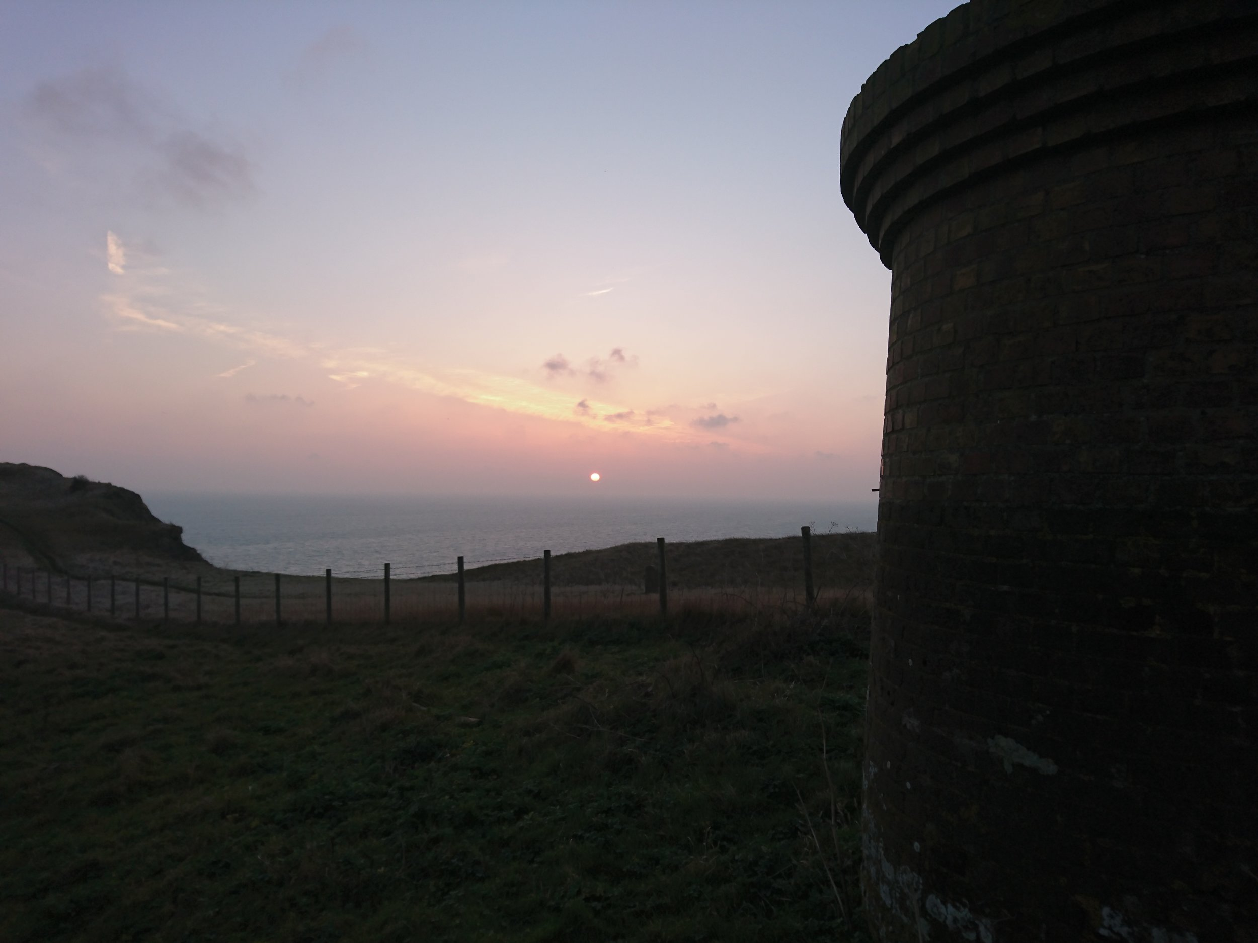 Sunrise on cliff