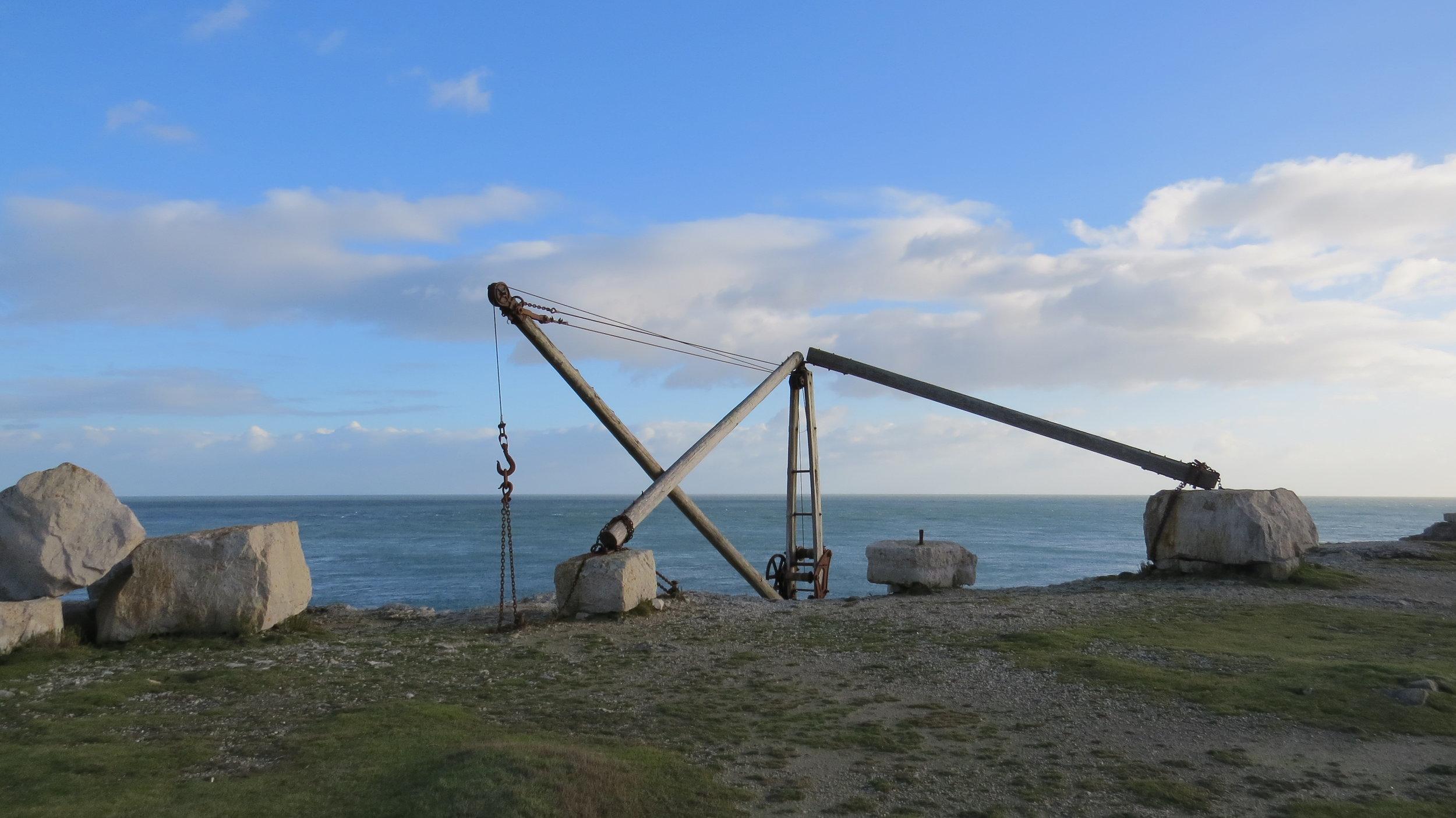 Portland Island Boat Crane