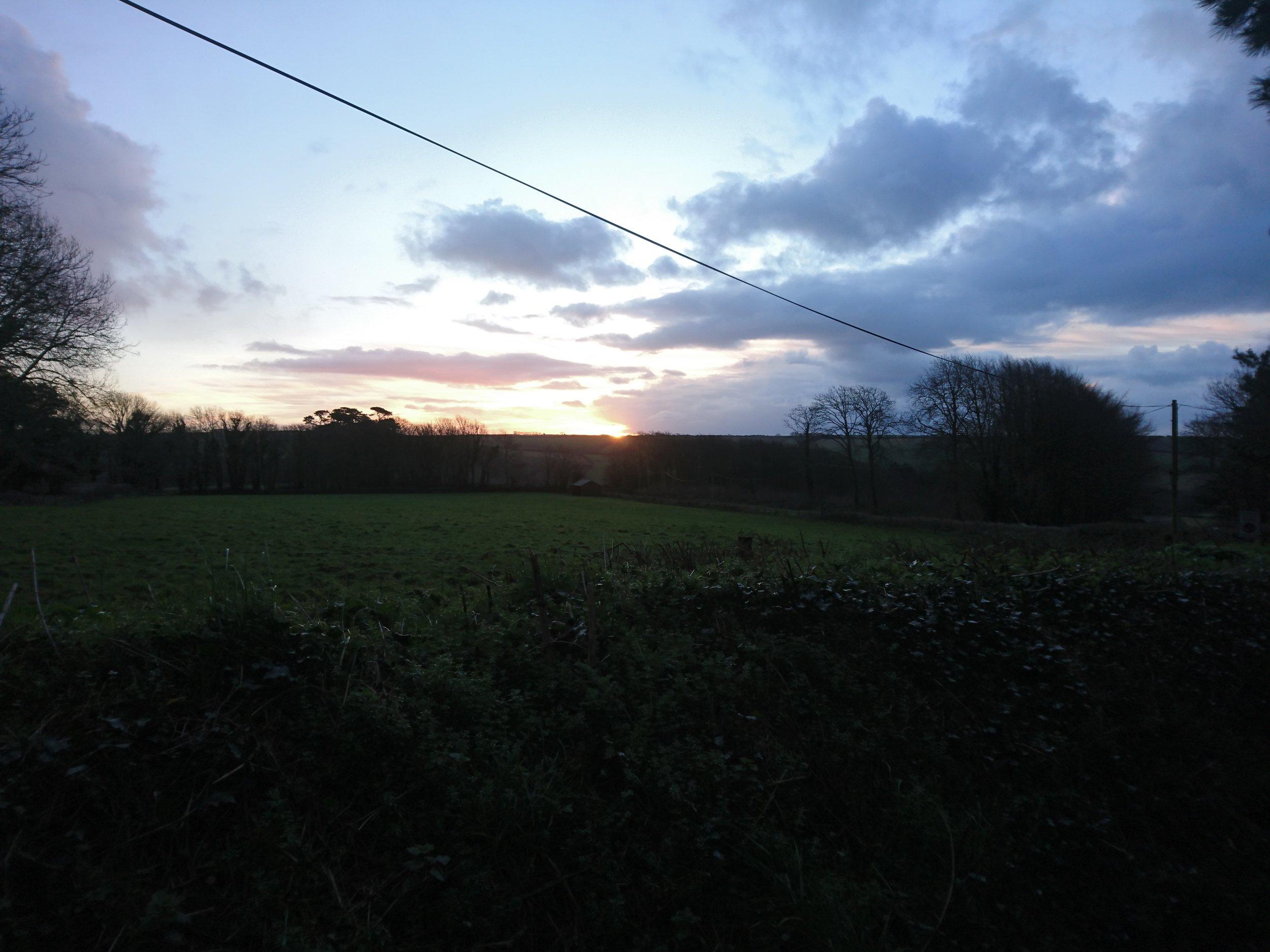 Sunrise near Mothecombe