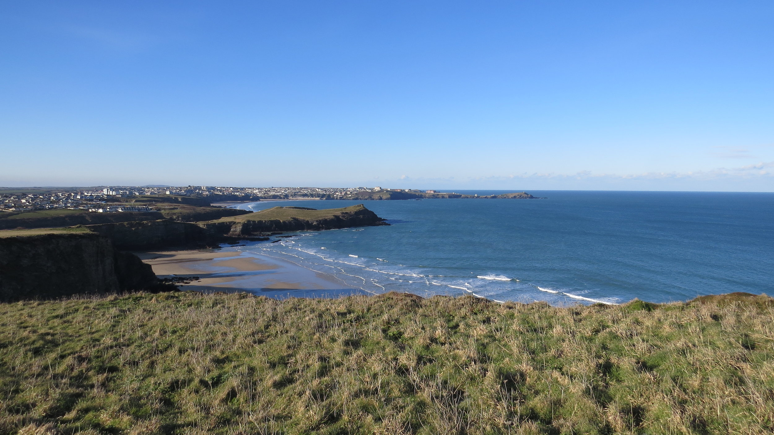 Looking back to Newquay