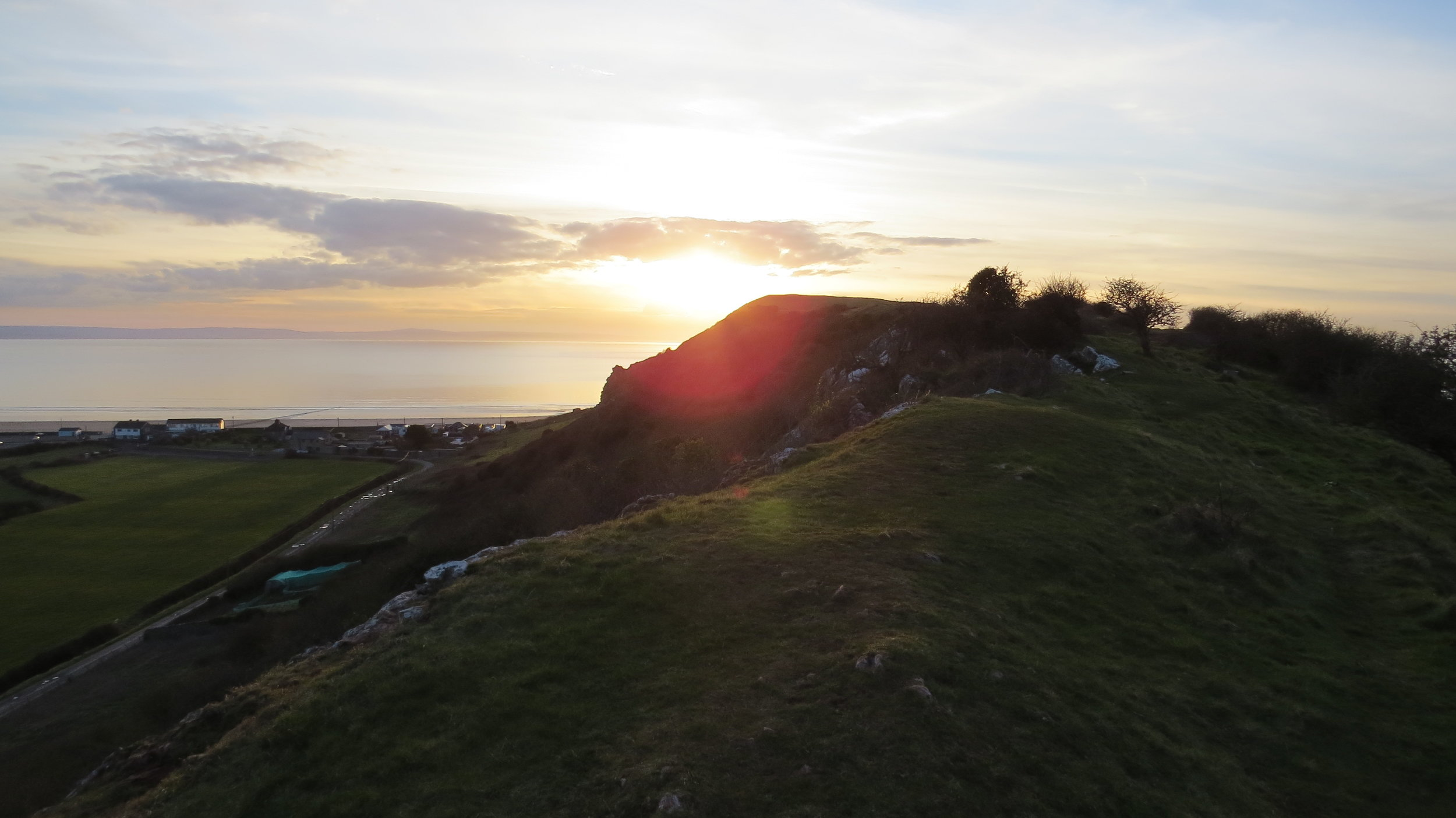 Sunset on Brean Down