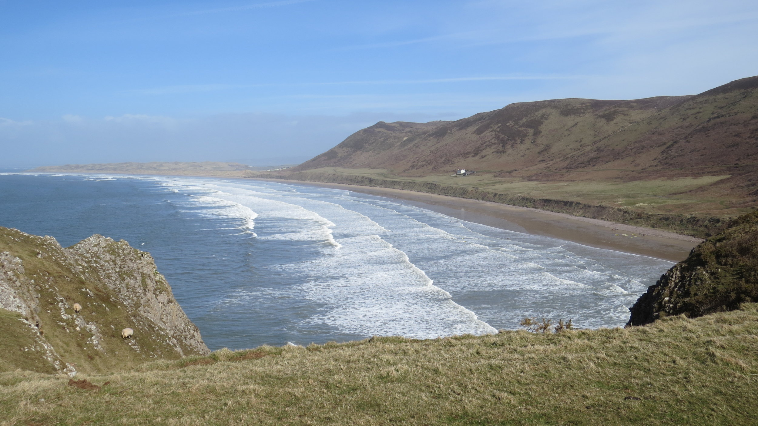 Rhossili Bay from Above