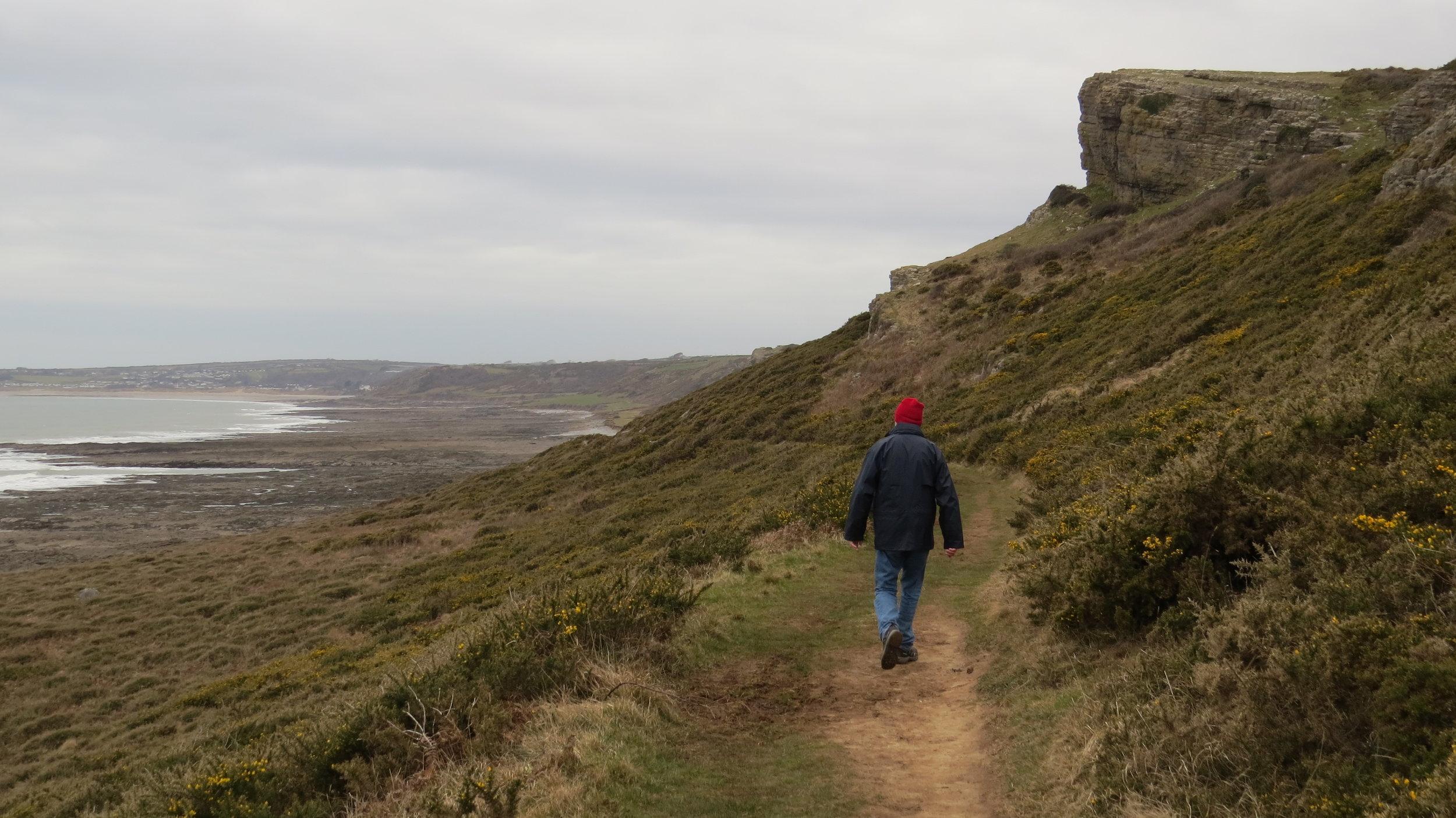 Dad Strolling Away