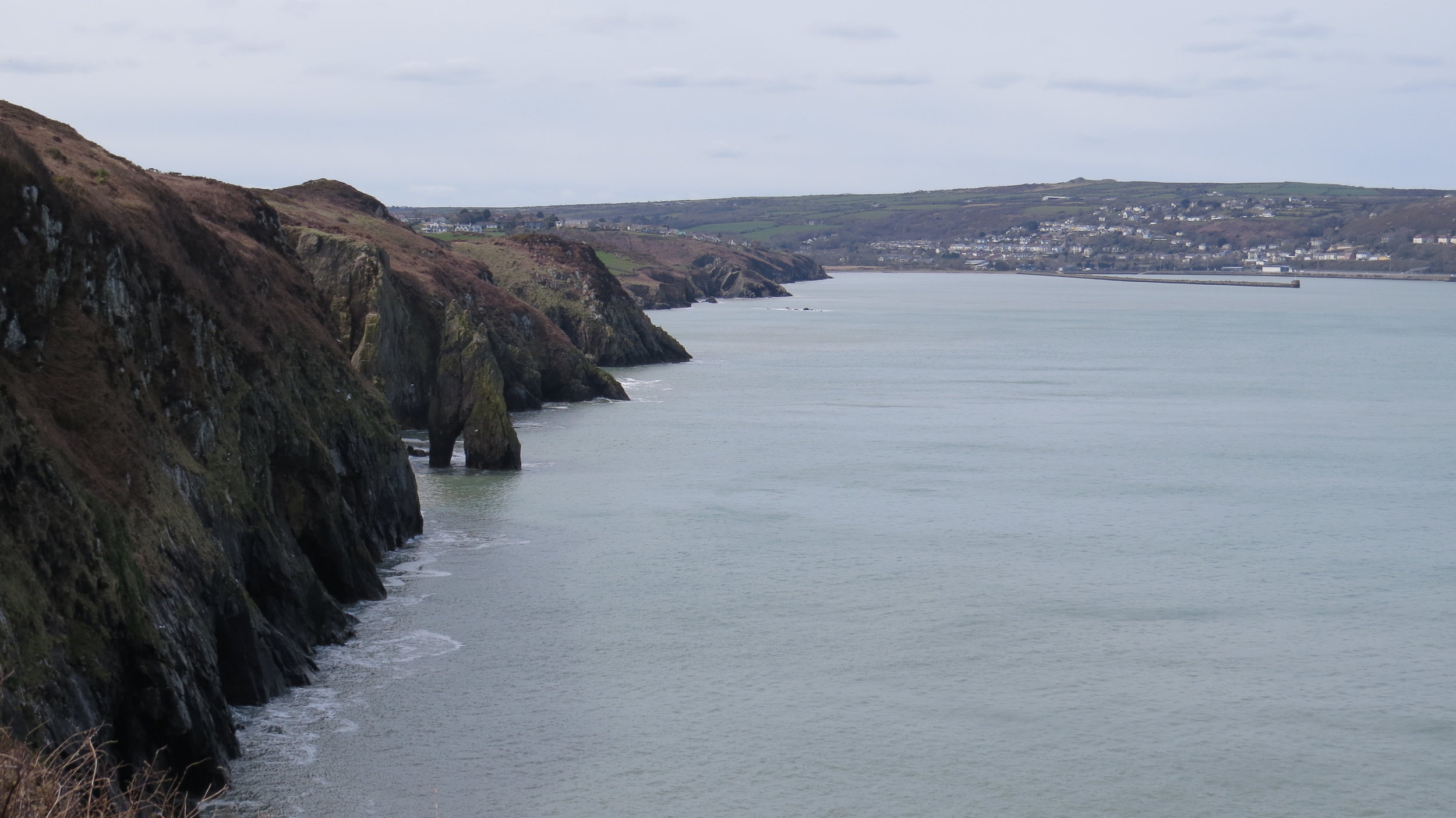 Looking back to Fishguard