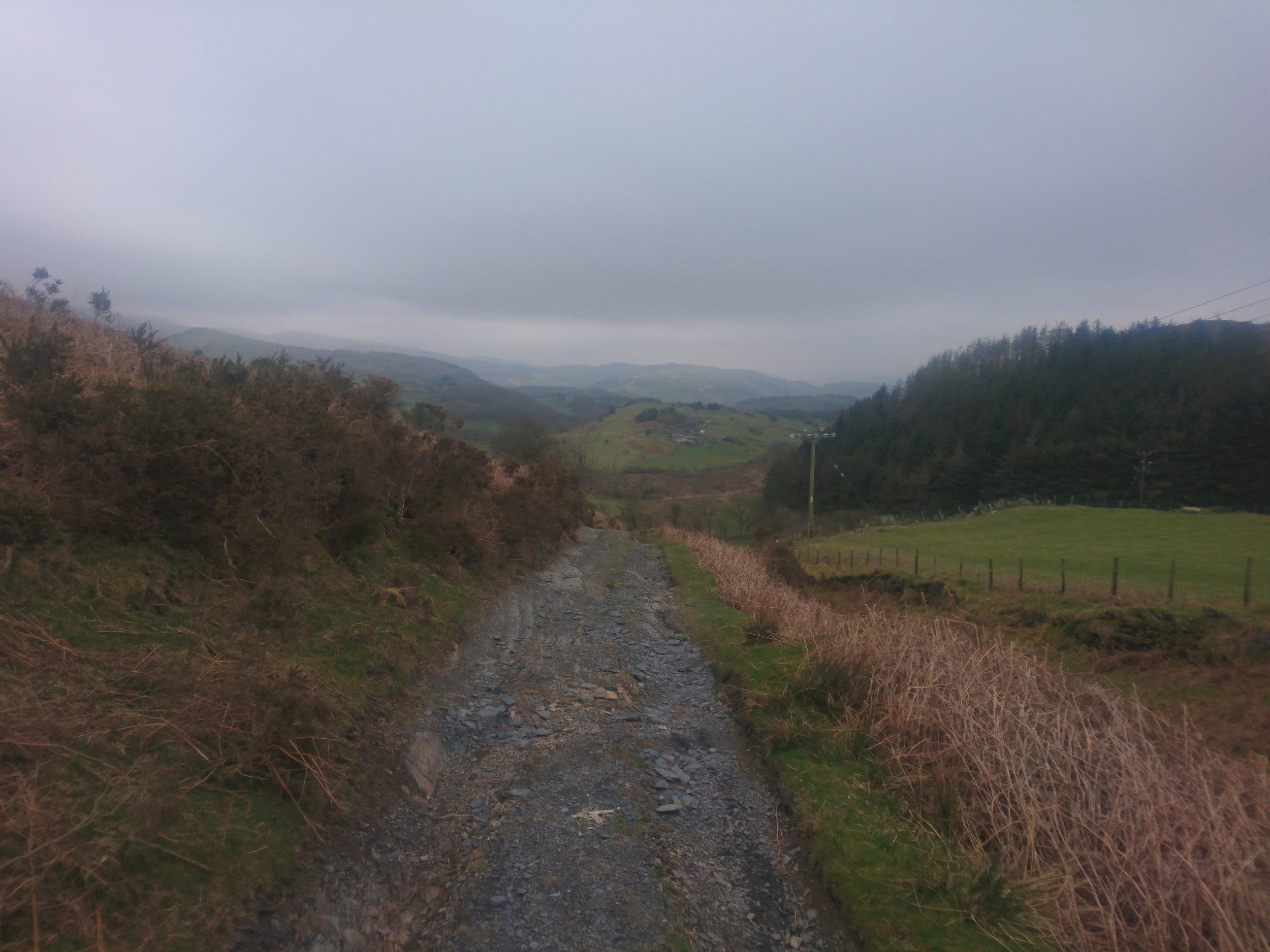 Stone Track across Plateau