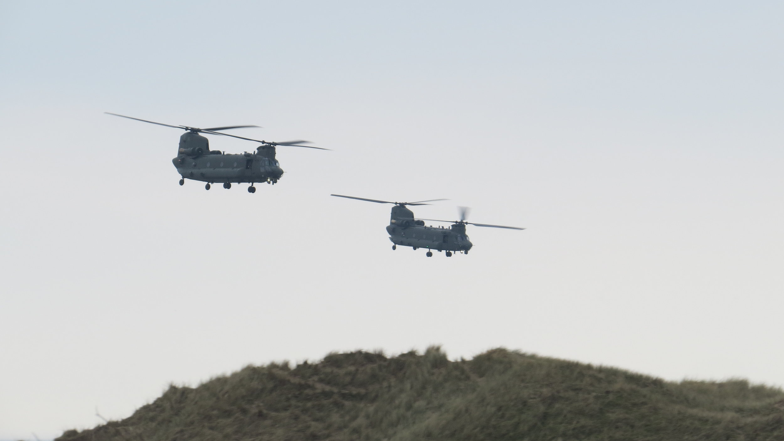 Chinooks in Formation