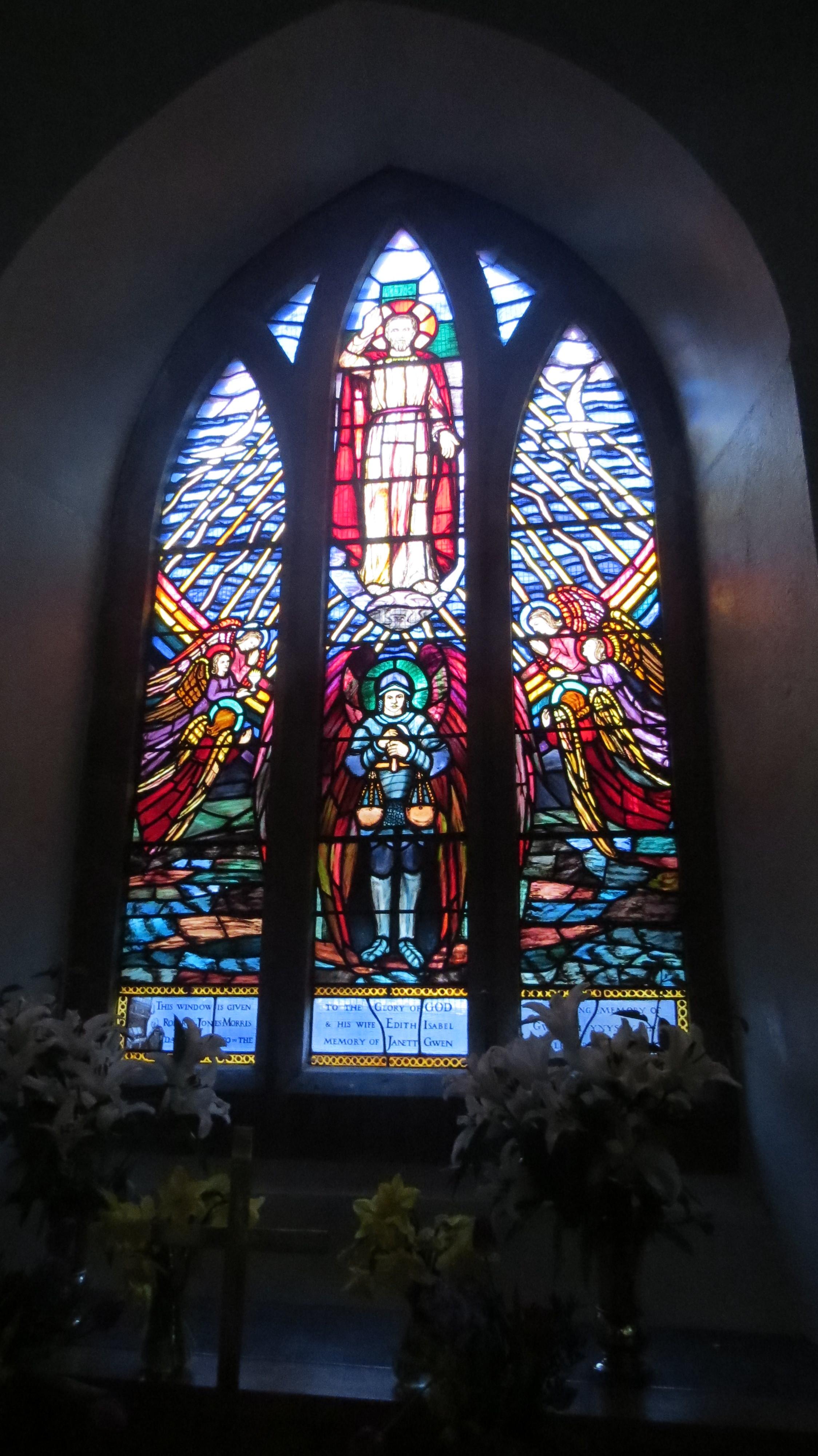 Llanfihangel y Traethau Stain Glass