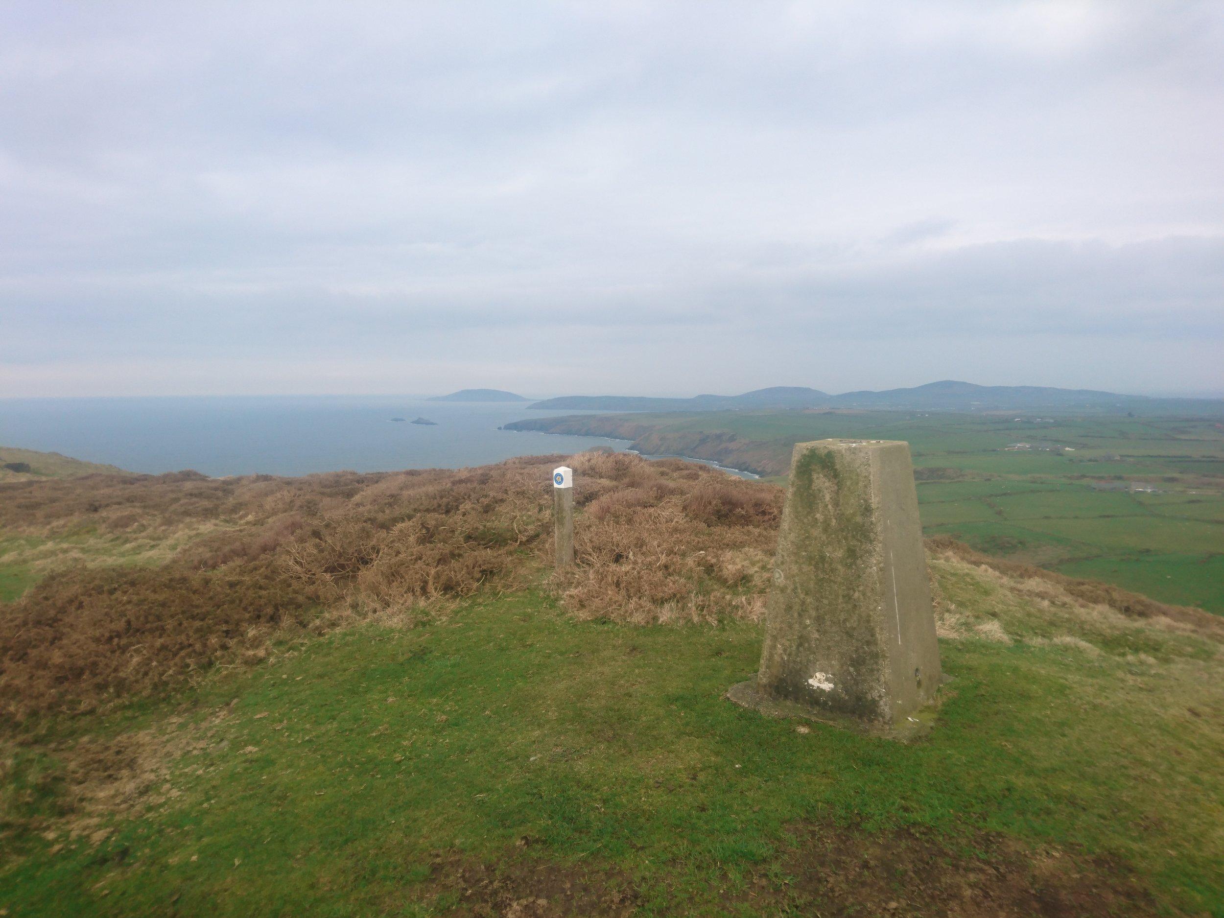 Trig Point towards Aberdaron
