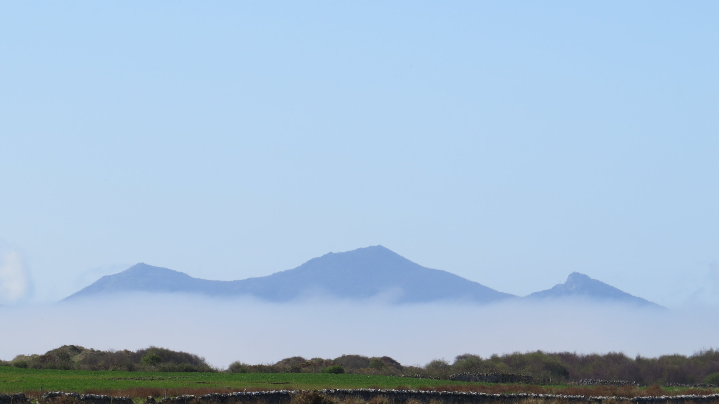 Looking back towards Snowdonia