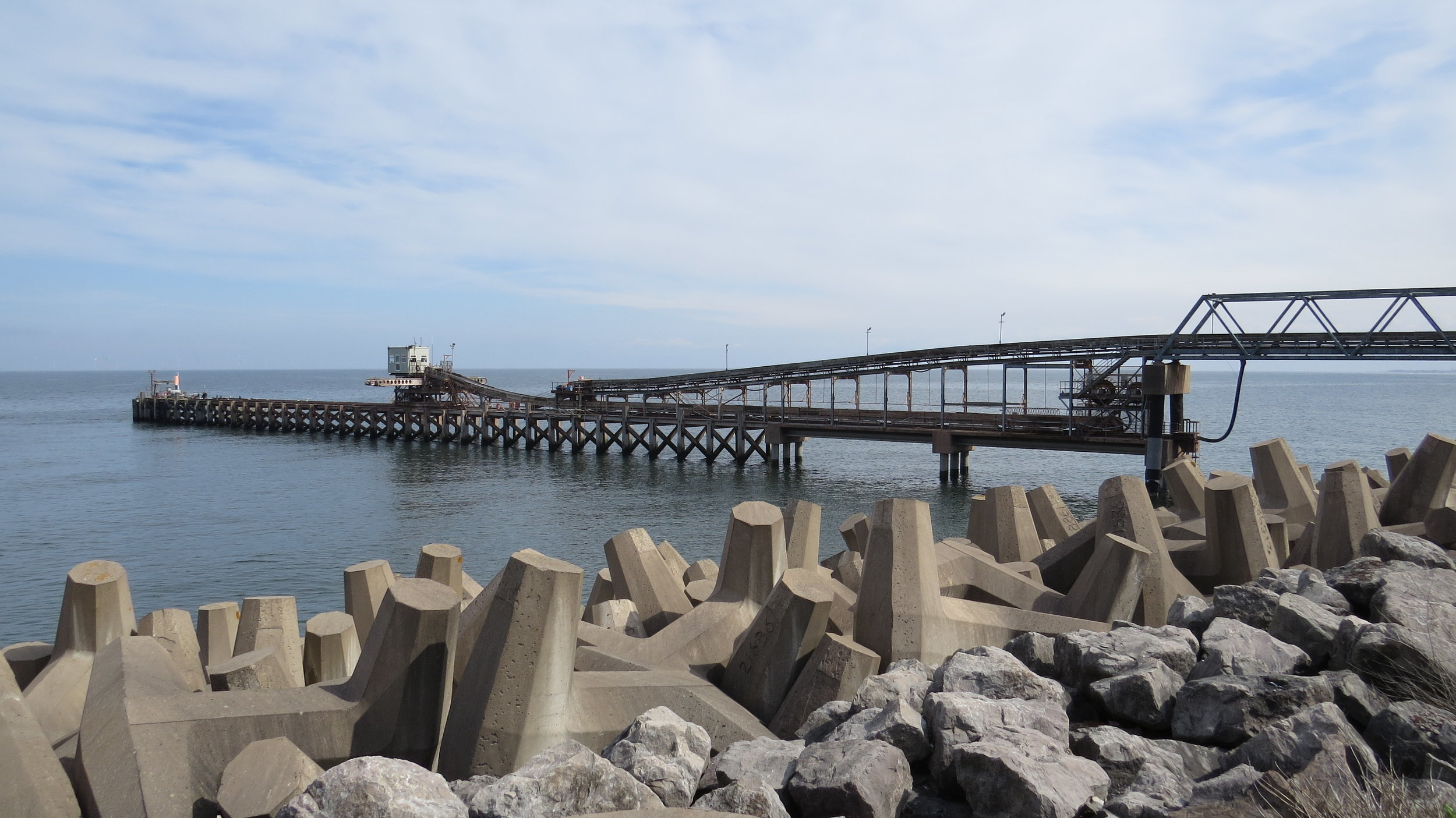 Pier for Aggregate from Quarry