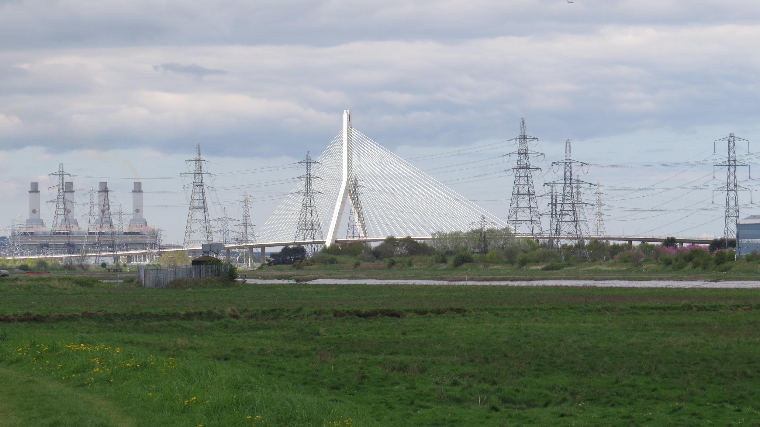 Flintshire Bridge amongst Pylons