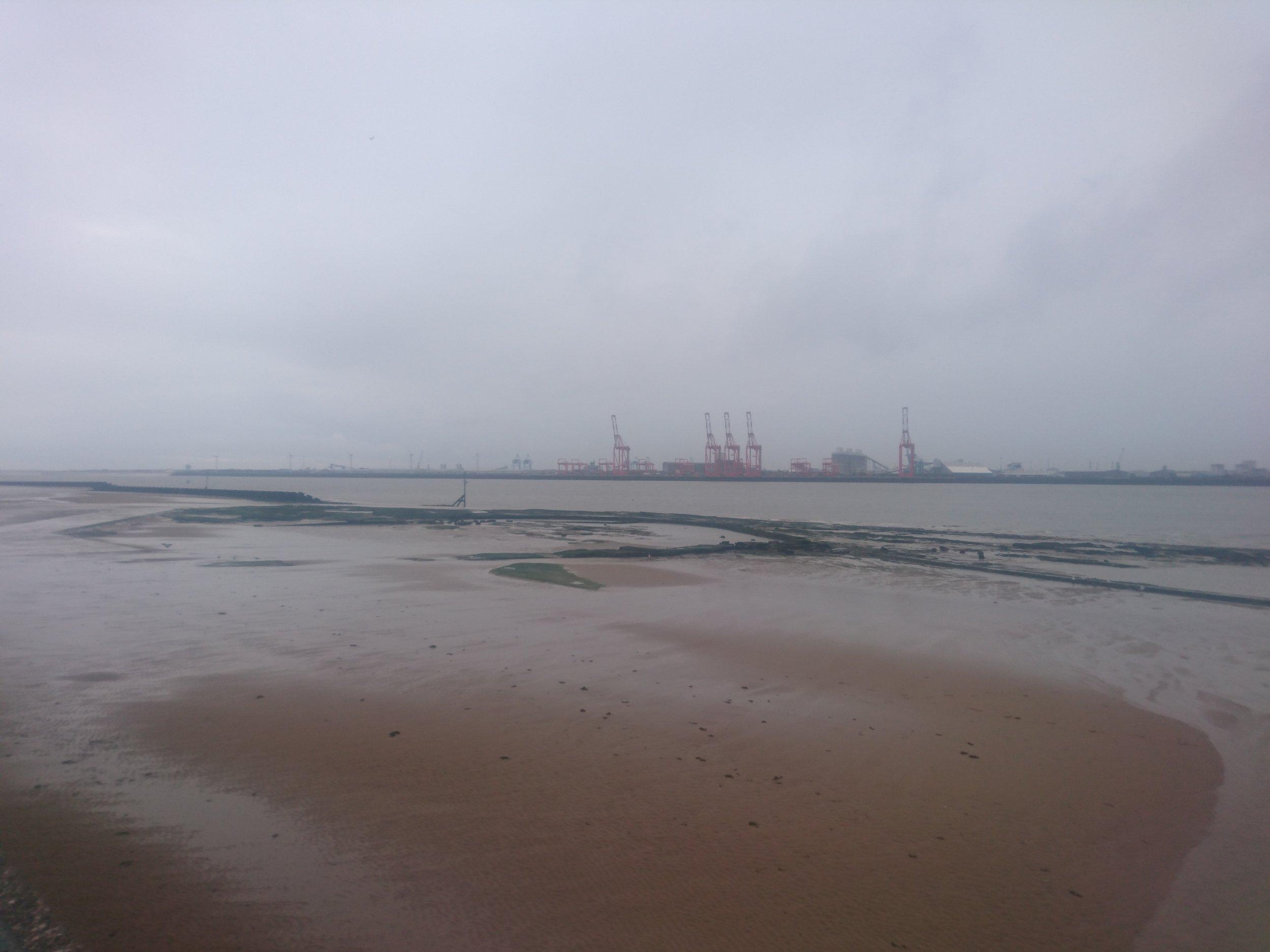 Liverpool Cranes in the Rain